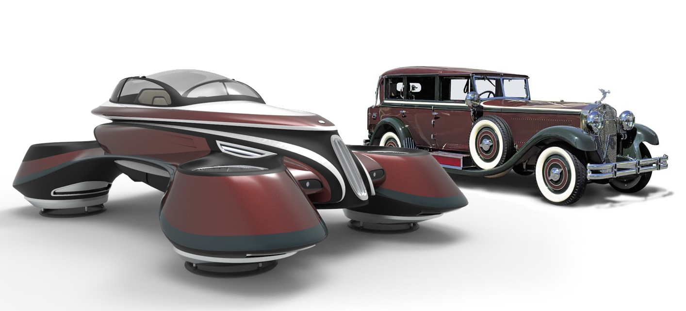 Lazzarini Design Creates a Retro Hover Car Concept | Automobile Magazine