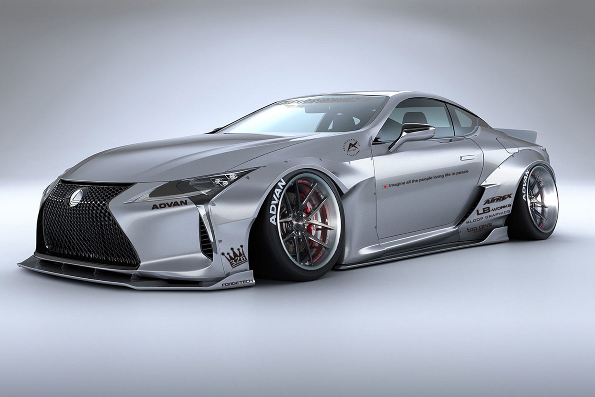 liberty walk lexus lc 500 looks ludicrous automobile magazine. Black Bedroom Furniture Sets. Home Design Ideas