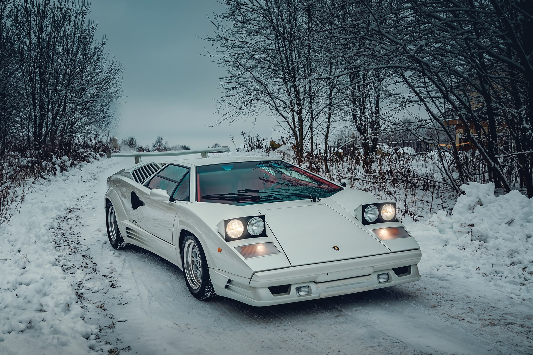 1991 Lamborghini Countach 25th Anniversary RM Sothebys Front Three Quarters
