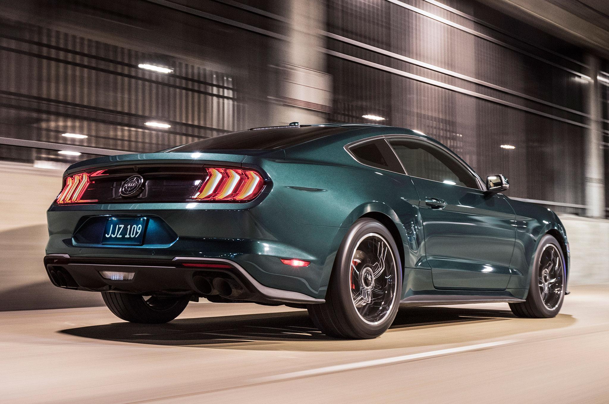 2019 Ford Mustang Bullitt Rear Side View In Motion