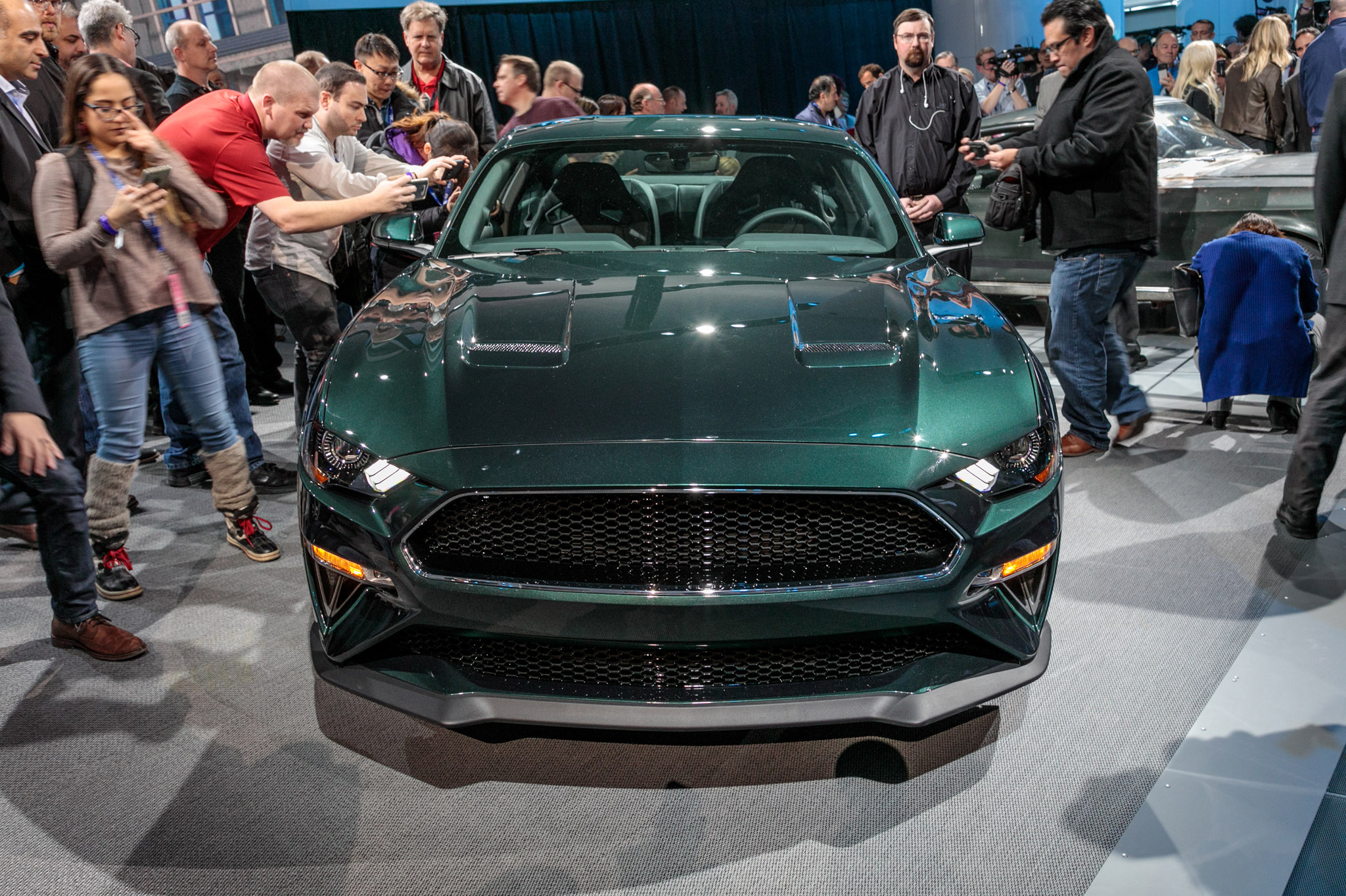 Ford shows off new and original Bullitt Mustangs