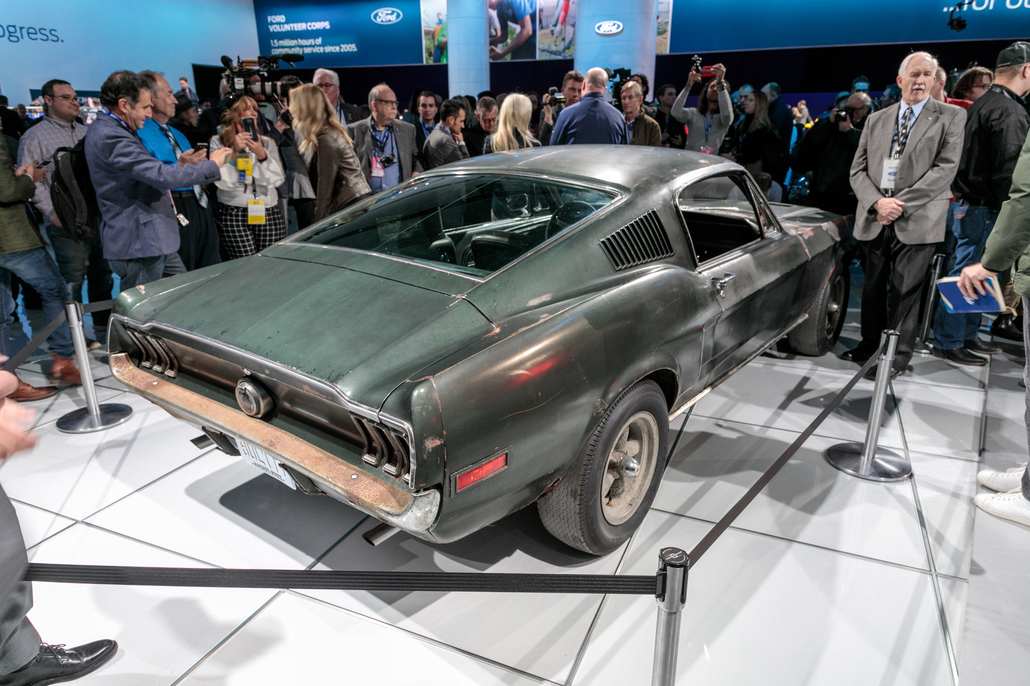 1968 Ford Mustang Fastback from 'Bullitt' is the Rusty ...