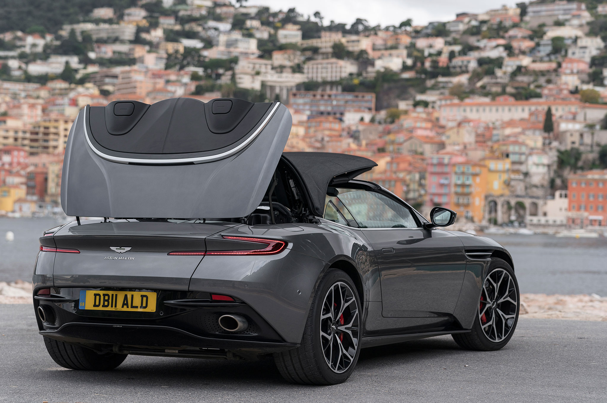 2019 aston martin db11 volante first drive review automobile magazine. Black Bedroom Furniture Sets. Home Design Ideas
