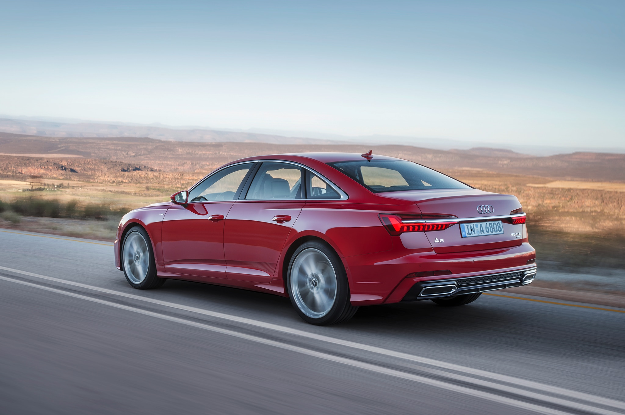 2019 Audi A6 Rear Three Quarter In Motion