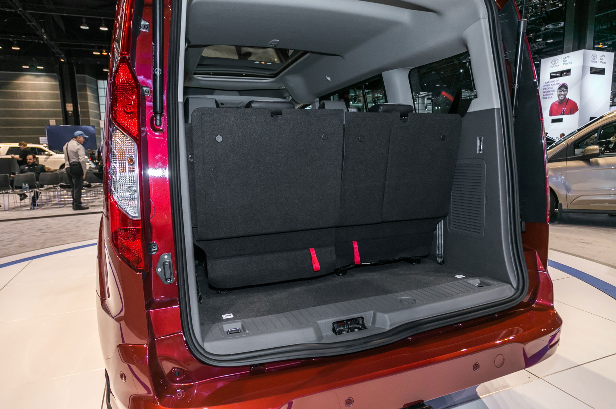 Ford takes on the chrysler pacifica with an updated - Transit connect interior dimensions ...