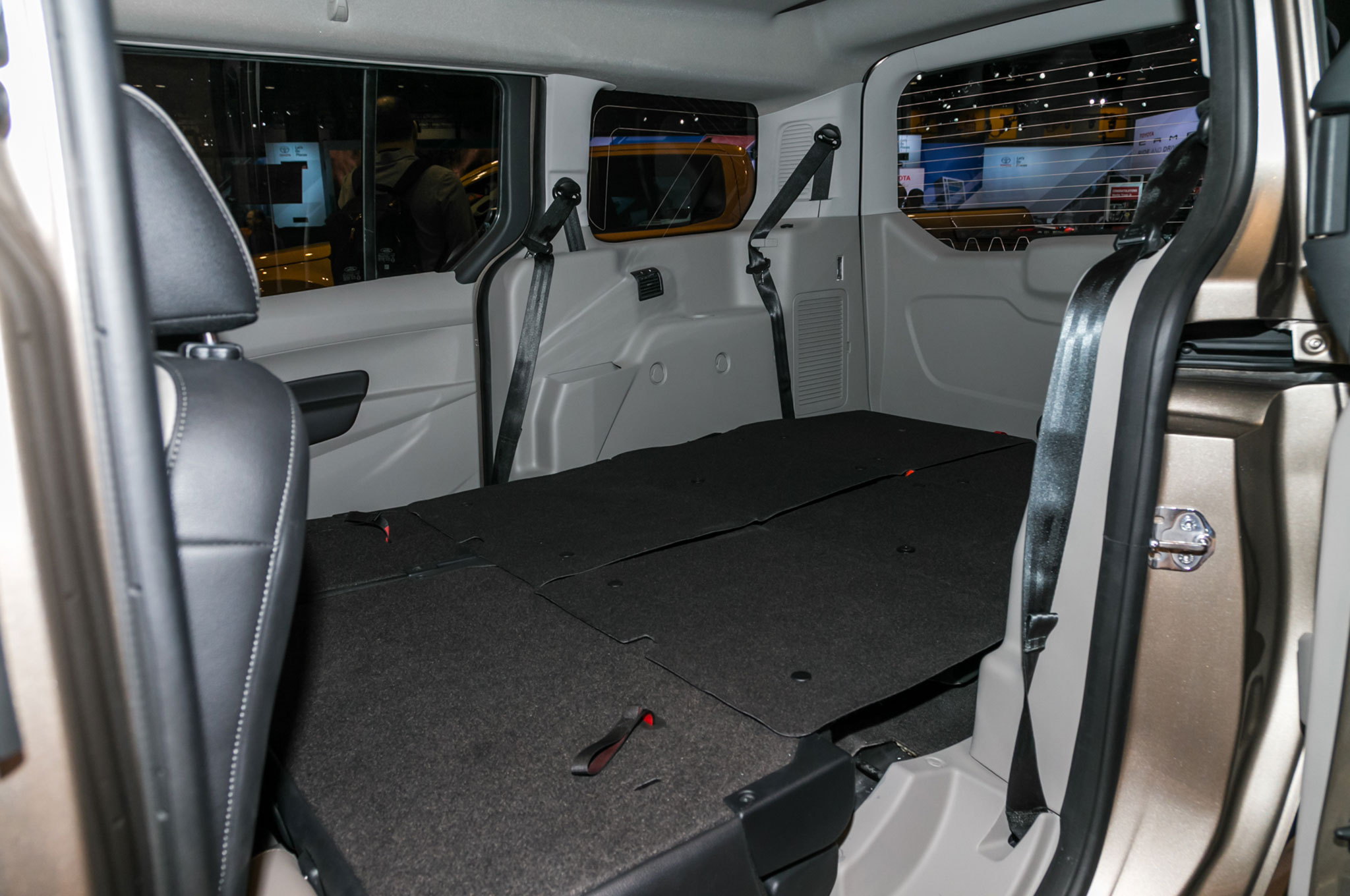 Ford takes on the chrysler pacifica with an updated transit connect wagon automobile magazine for Ford transit wagon 15 passenger interior