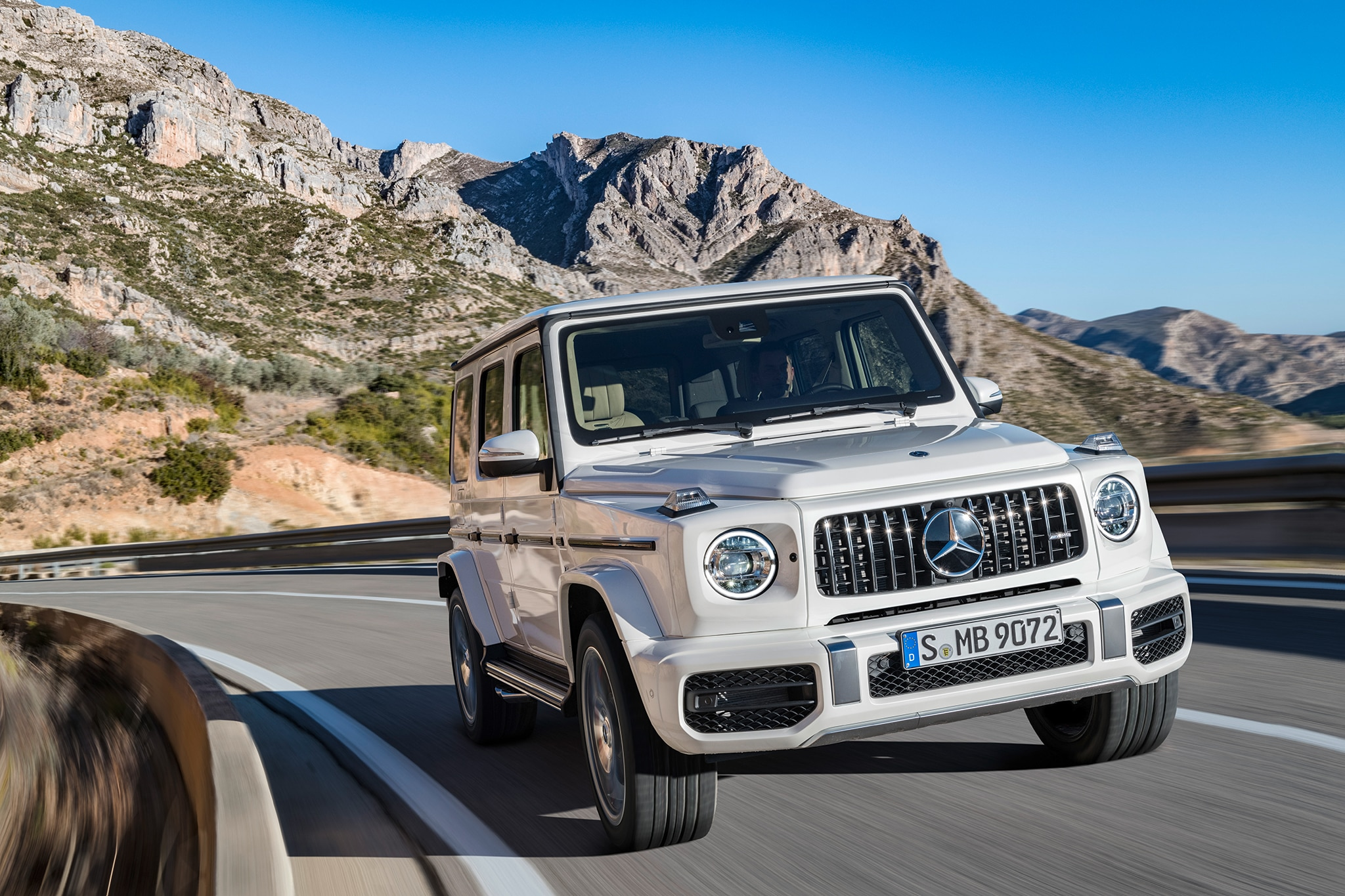 2019 Mercedes AMG G63 Front Three Quarter In Motion 05