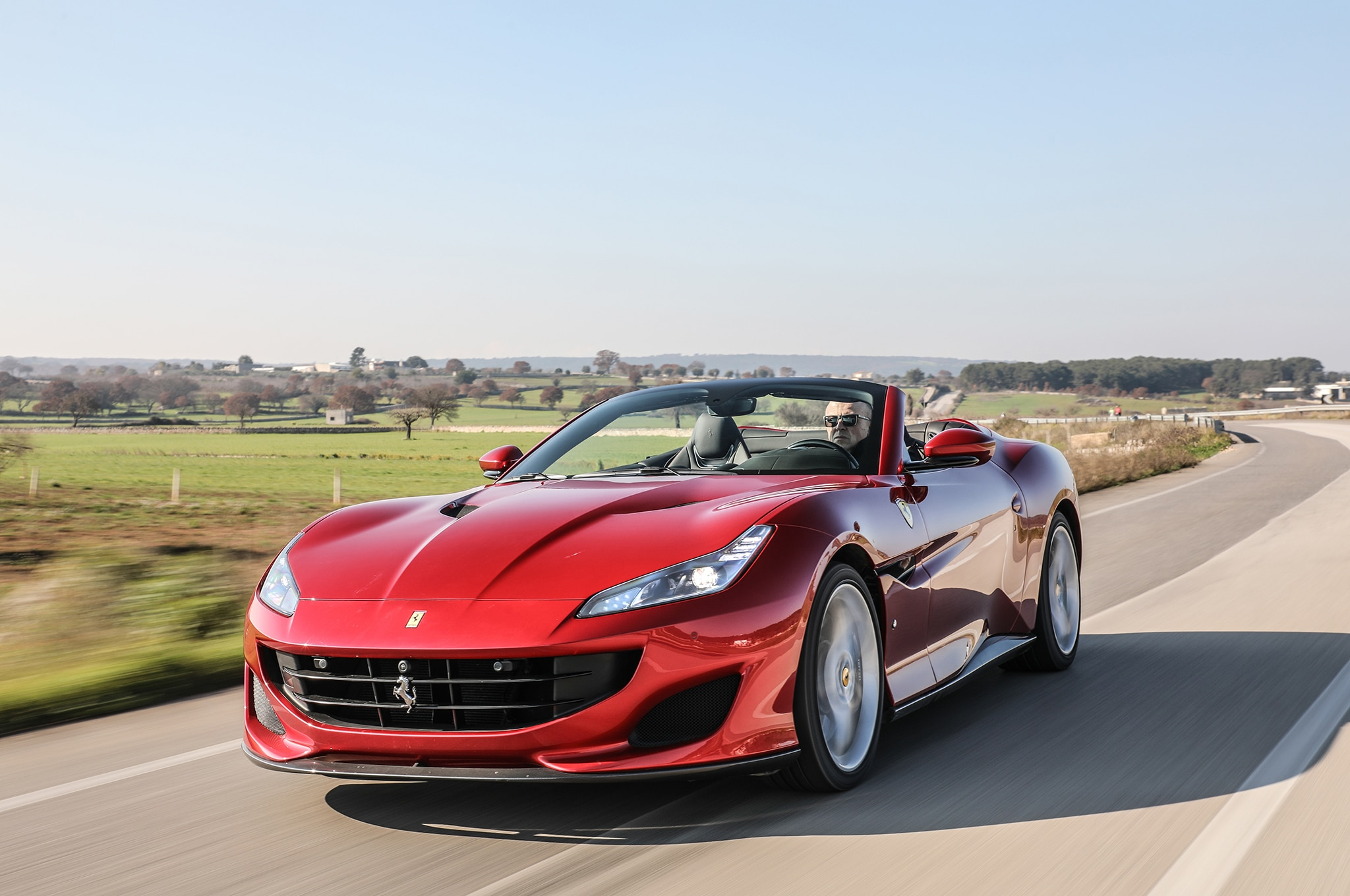 Ferrari Portofino Front Three Quarter In Motion 20