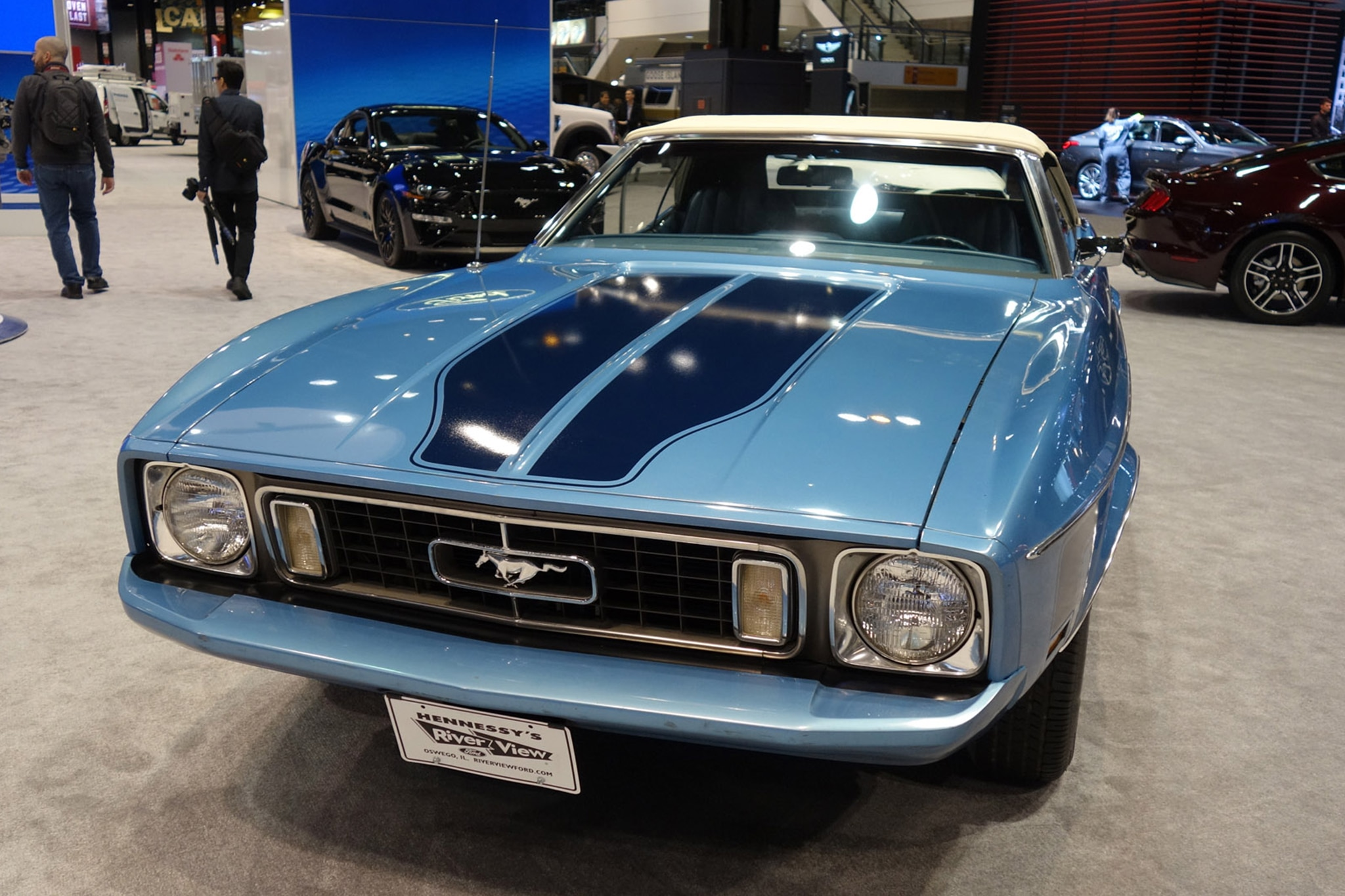 The 2018 Chicago Auto Show_1973 Mustang Convertible Front