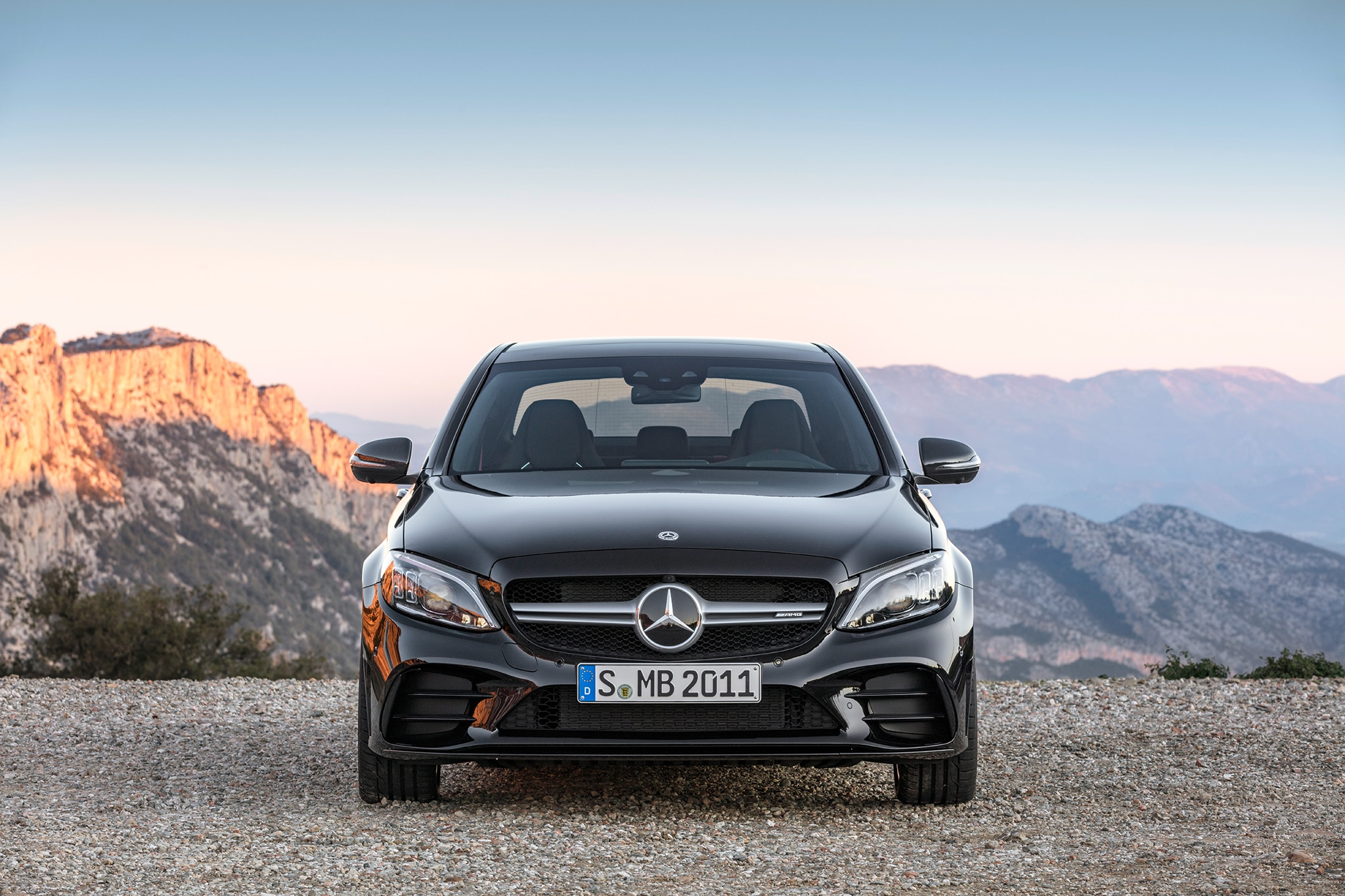 2019 mercedes amg c43 sedan debuts in geneva automobile. Black Bedroom Furniture Sets. Home Design Ideas