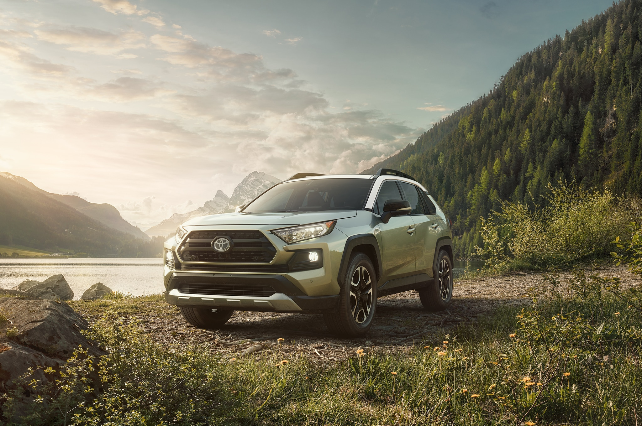 2019 Toyota RAV4 Front Three Quarter 03