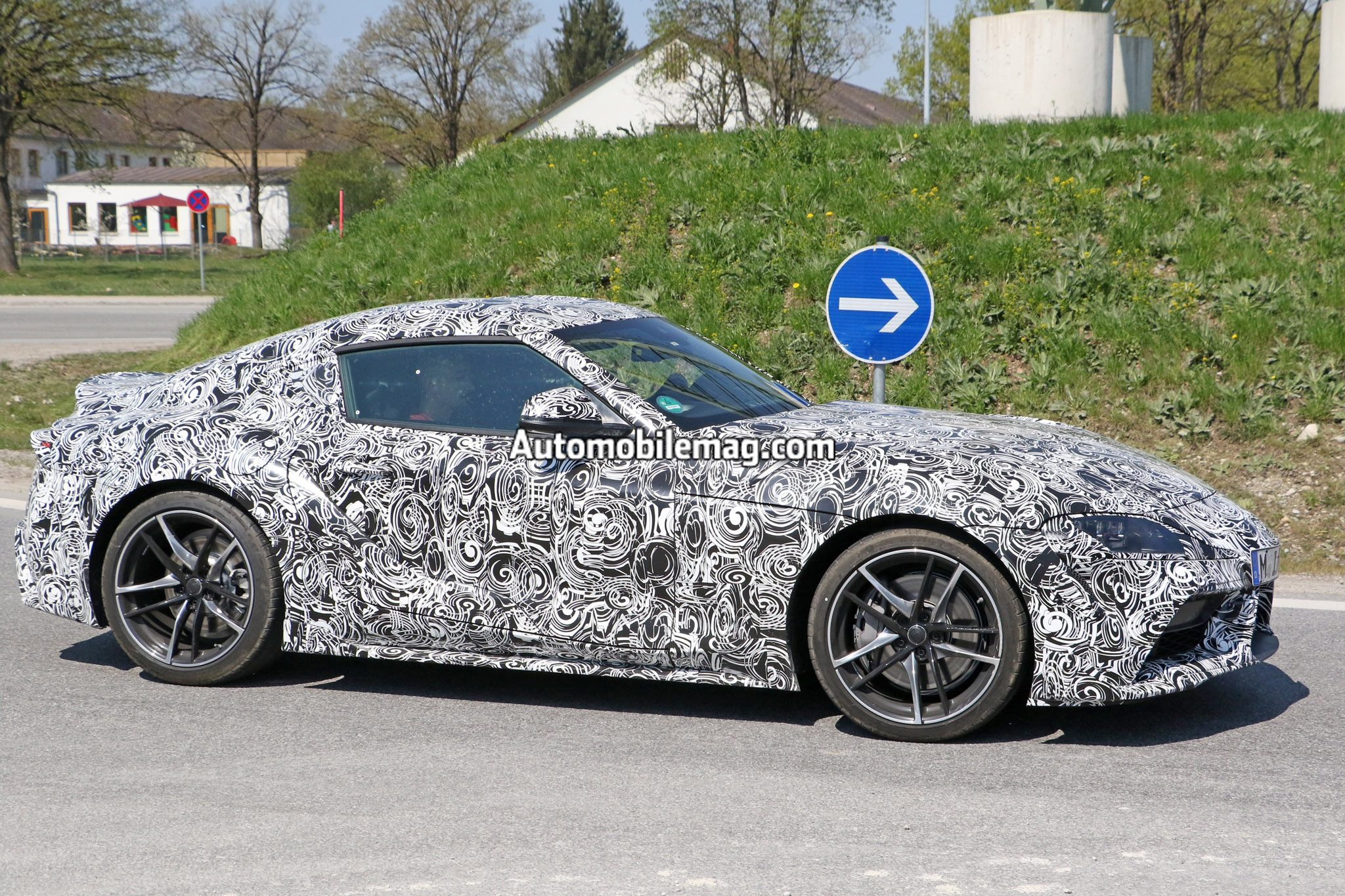 Toyota Supra Wearing Production Wheels Spied | Automobile Magazine