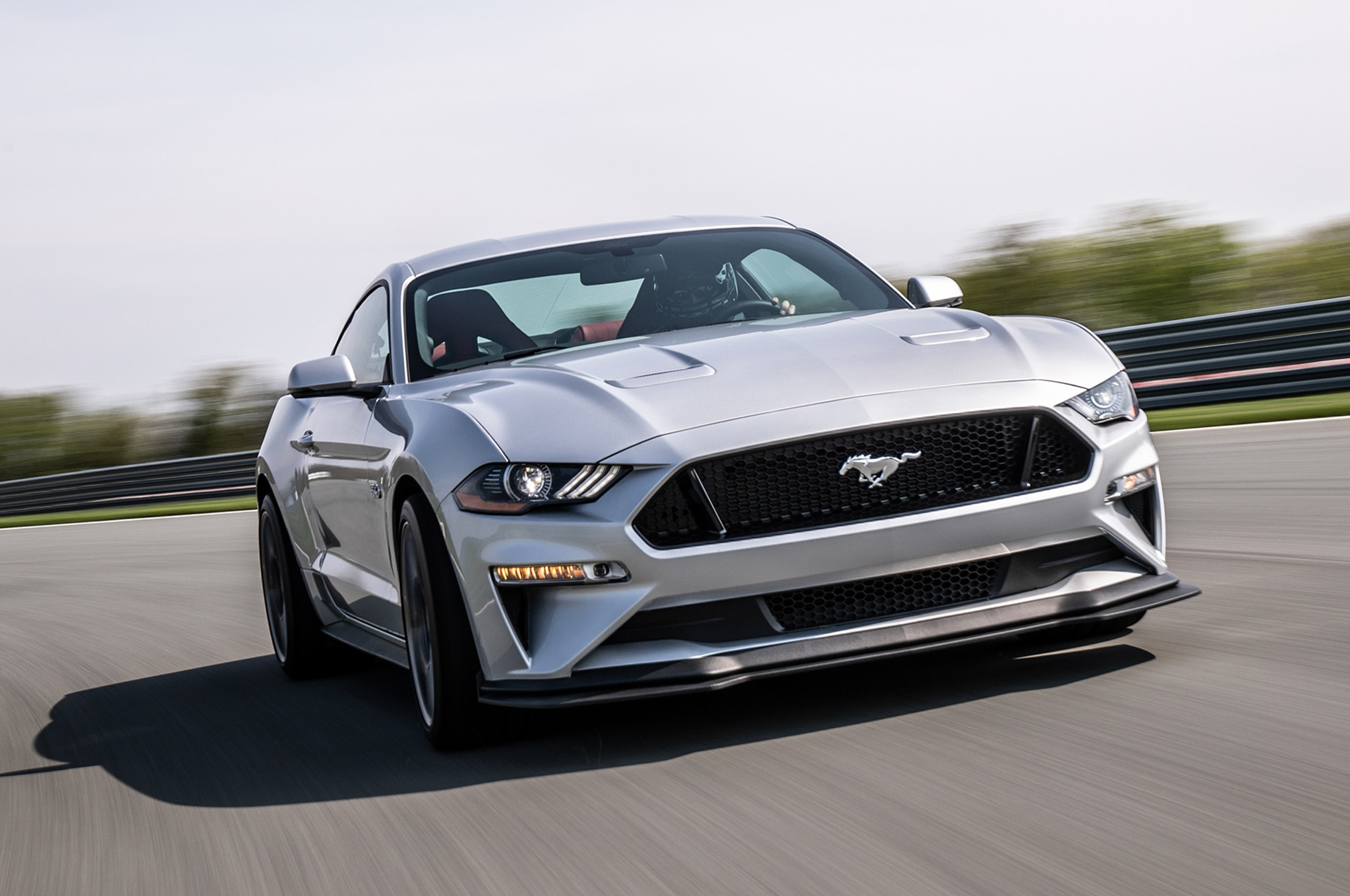 2018 Ford Mustang GT Performance Pack 2 Front Three Quarter In Motion 01