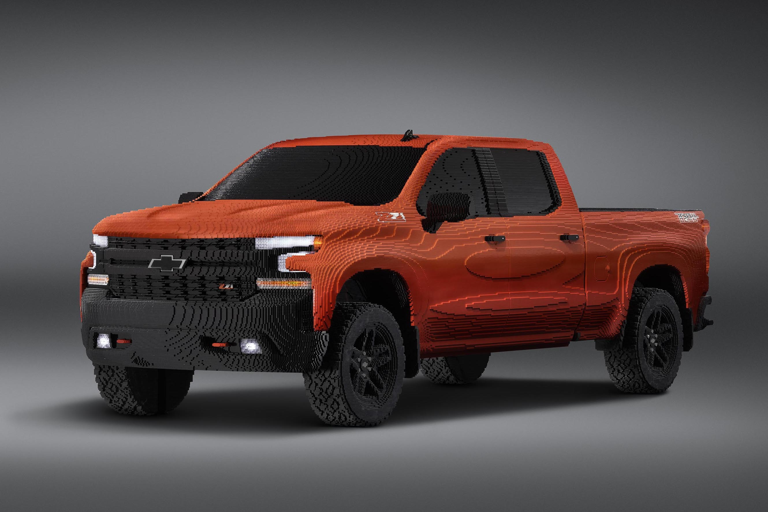 Check Out This Life-Size Lego Chevy Silverado Made from ...