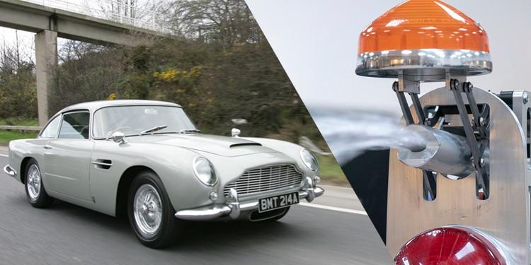 aston martins newold james bond db   actual spy gadgets automobile magazine