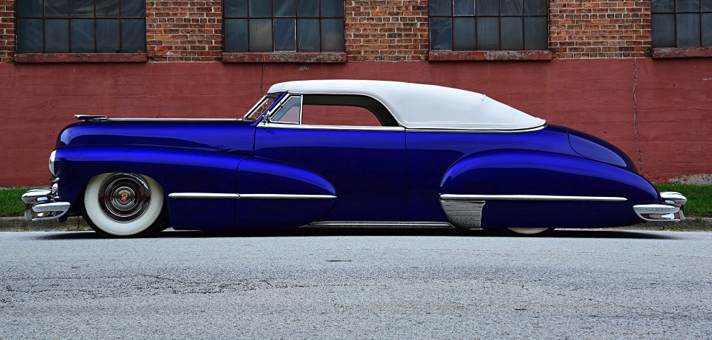this bagged 1947 cadillac is hot