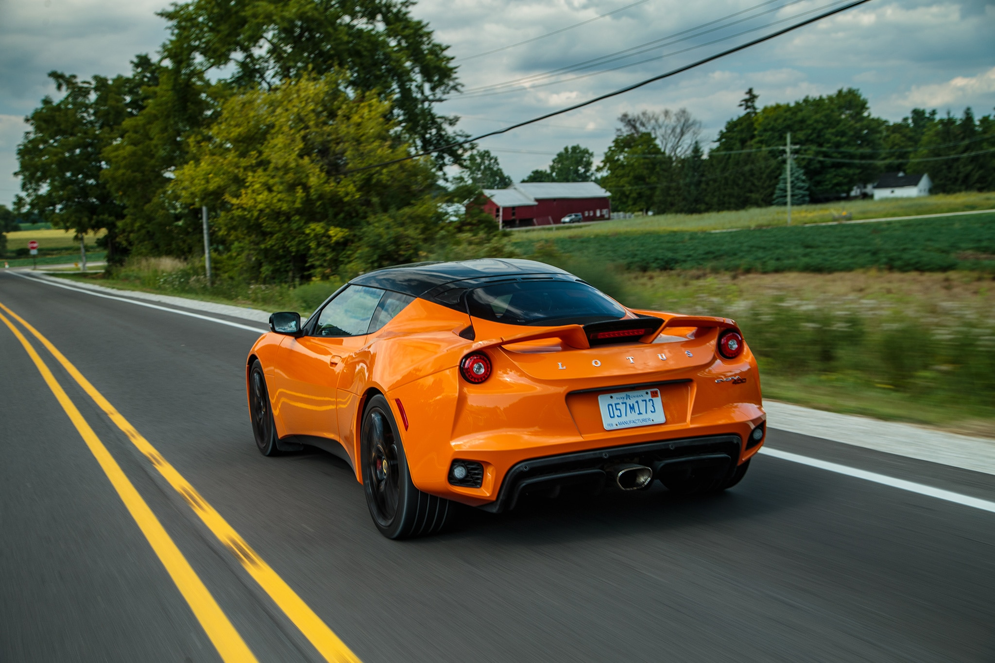 2017 Lotus Evora 400 Rear Three Quarter In Motion 03