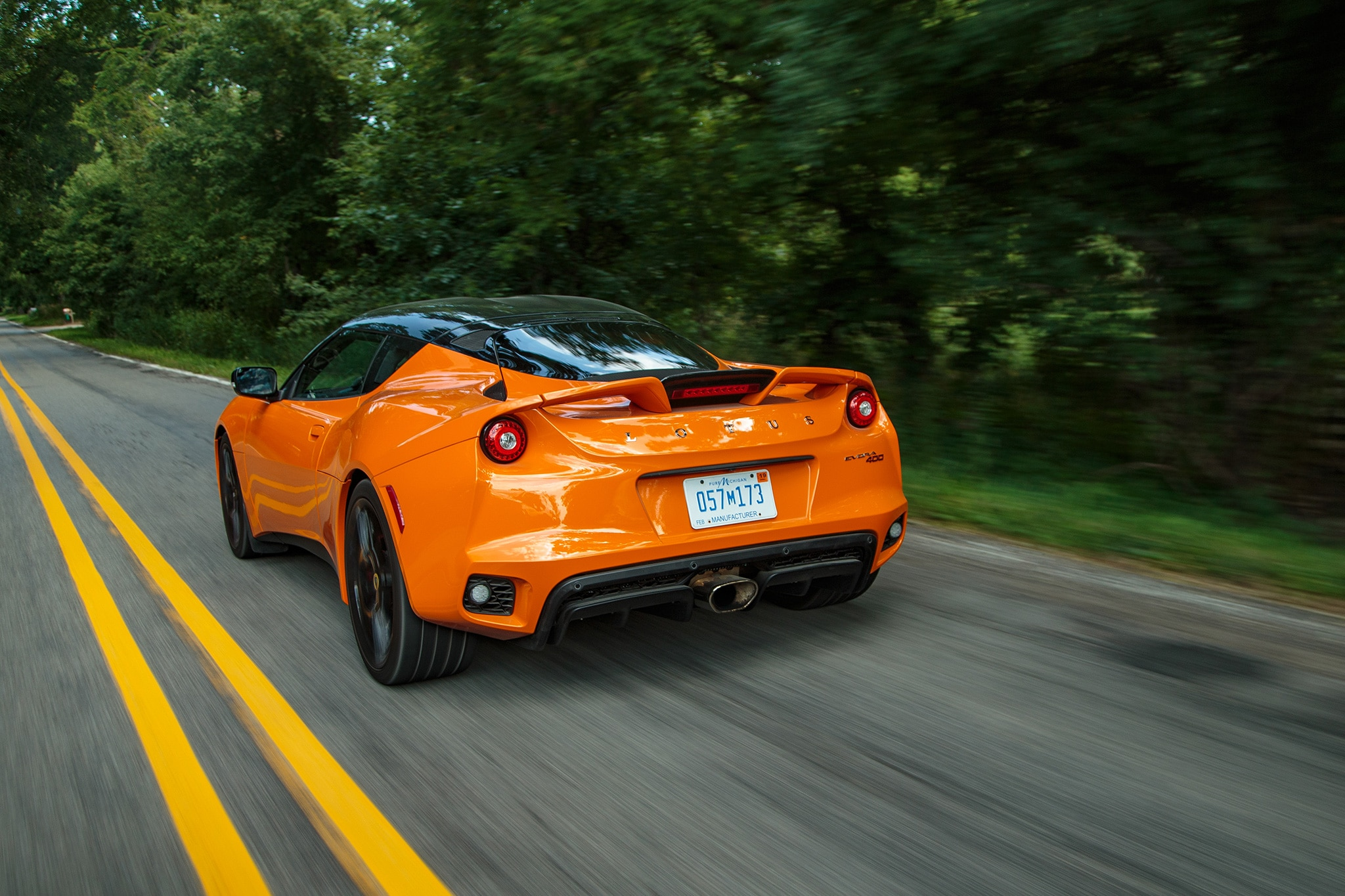 2017 Lotus Evora 400 Rear Three Quarter In Motion 06