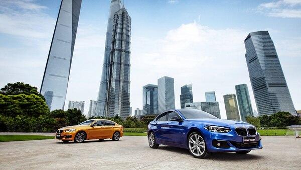 All New BMW 1 Series Sedan China Luminous Gold and Estoril Blue