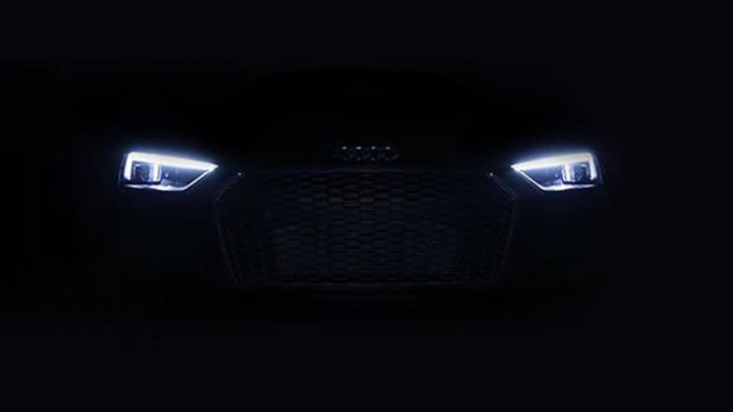 Audi laser lights teaser