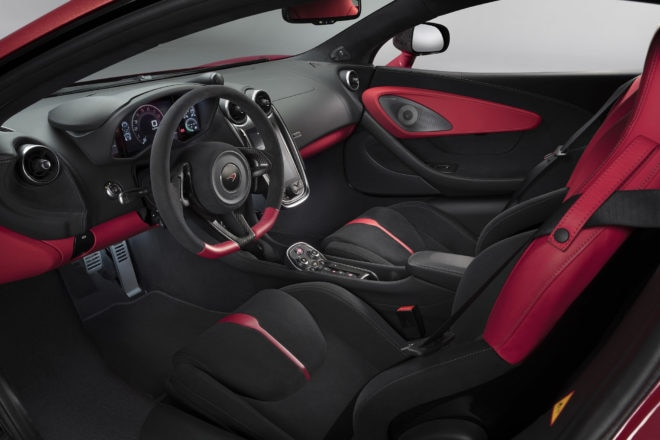 McLaren 570S Special Design Editions Vermillion Red interior