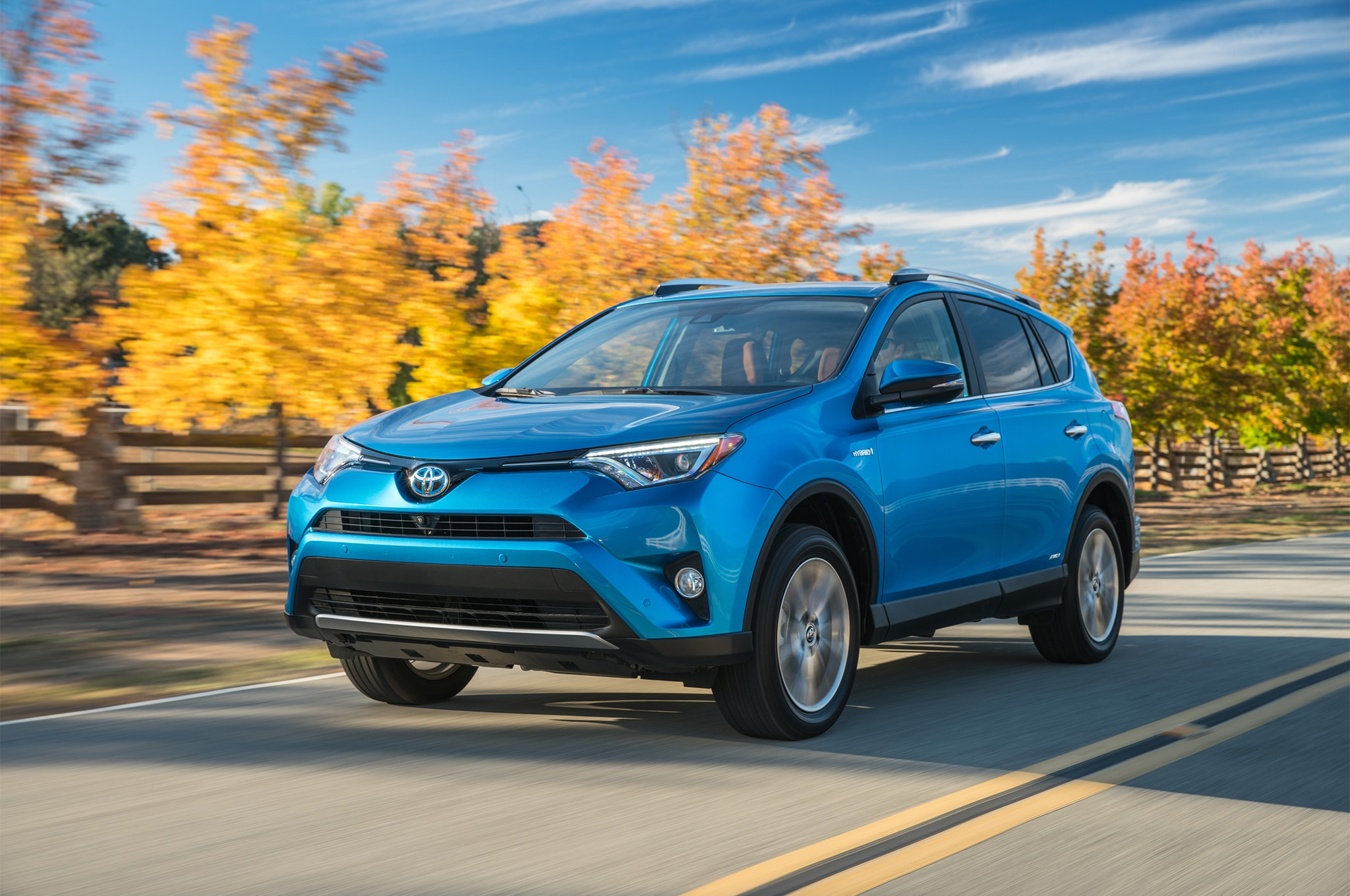 2017 Toyota Rav4 Hybrid Limited Front Three Quarter In Motion 05