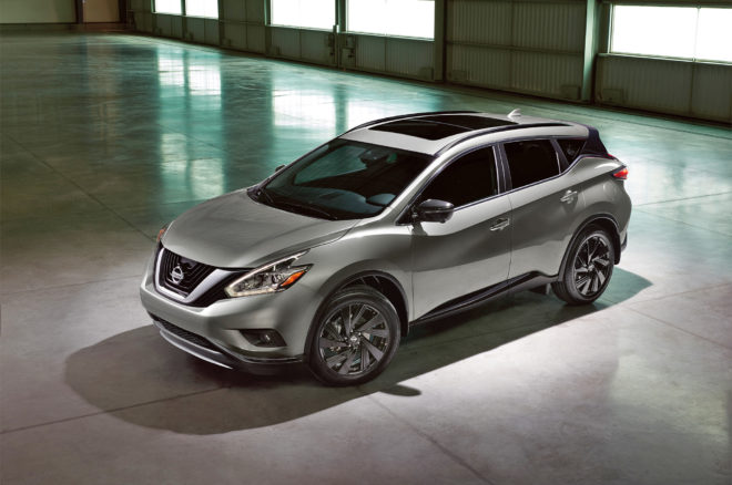 2017 Nissan Murano Platinum Midnight Edition front three quarter