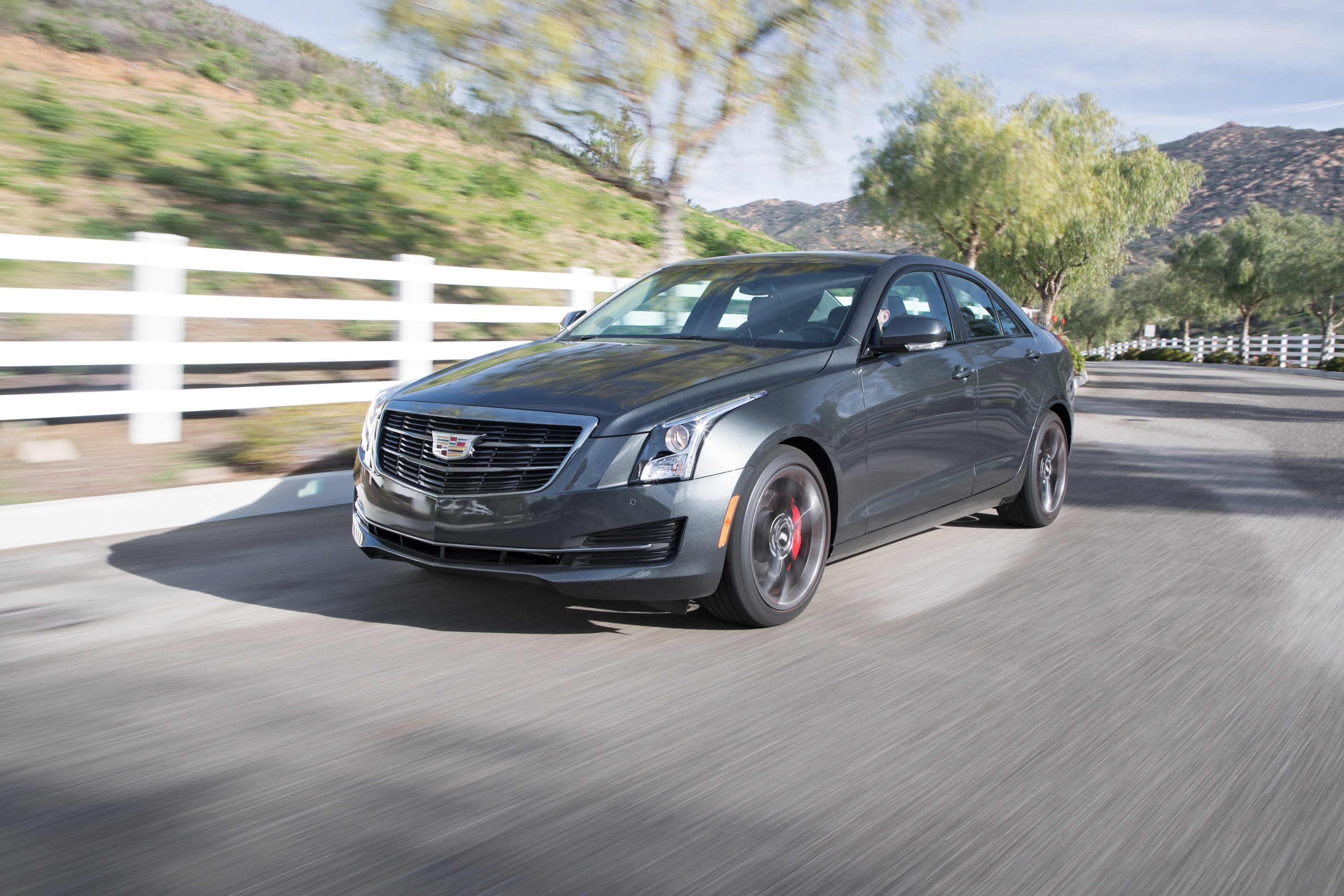 2017 Cadillac ATS 20T Front Three Quarter In Motion 02