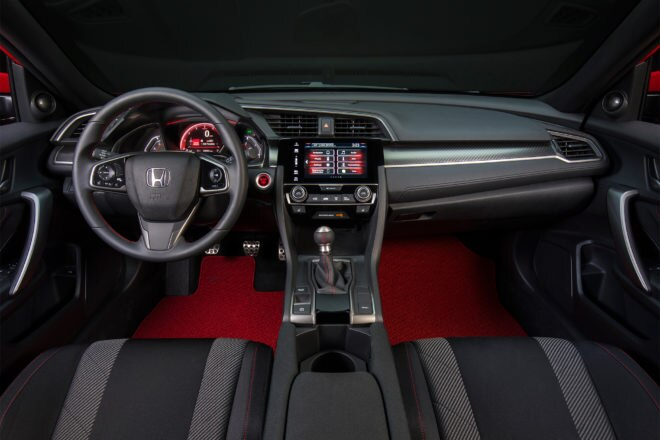 Honda Civic Si Coupe prototype dashboard