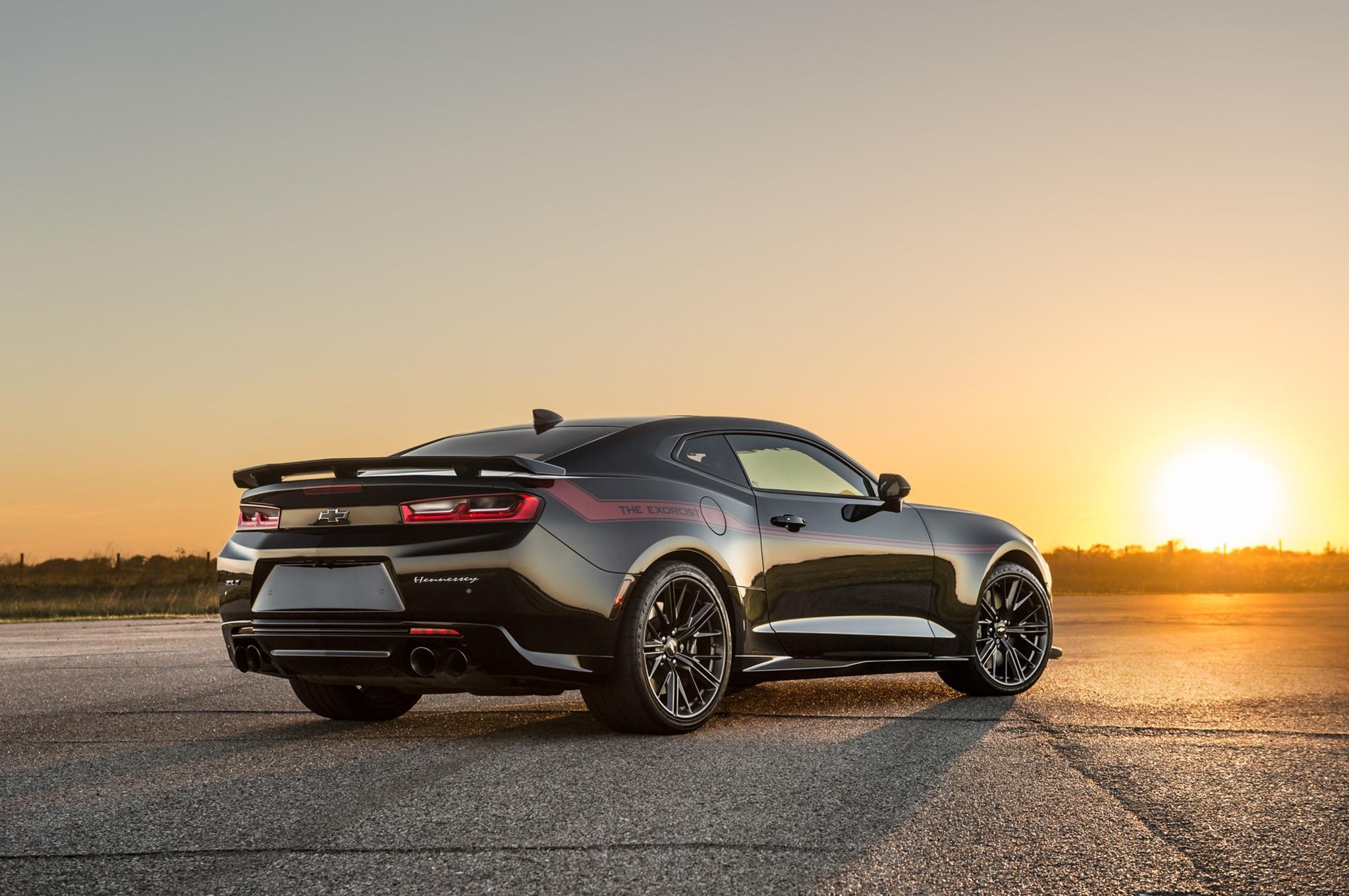 Watch The Hennessey Exorcist Camaro Zl1 Unleash Its 1 000 Horsepower Automobile Magazine