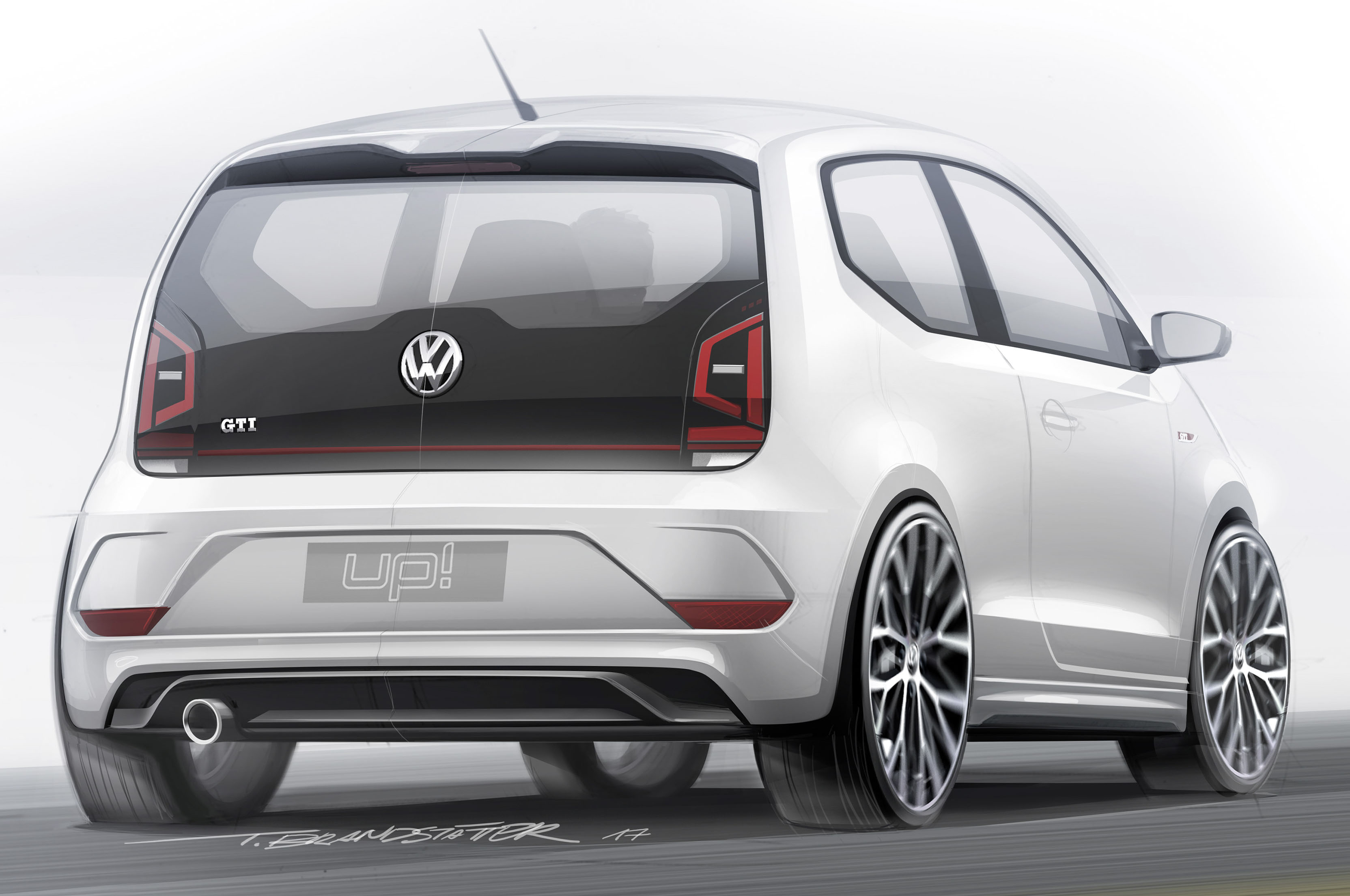 volkswagen up to offer gti version automobile magazine. Black Bedroom Furniture Sets. Home Design Ideas