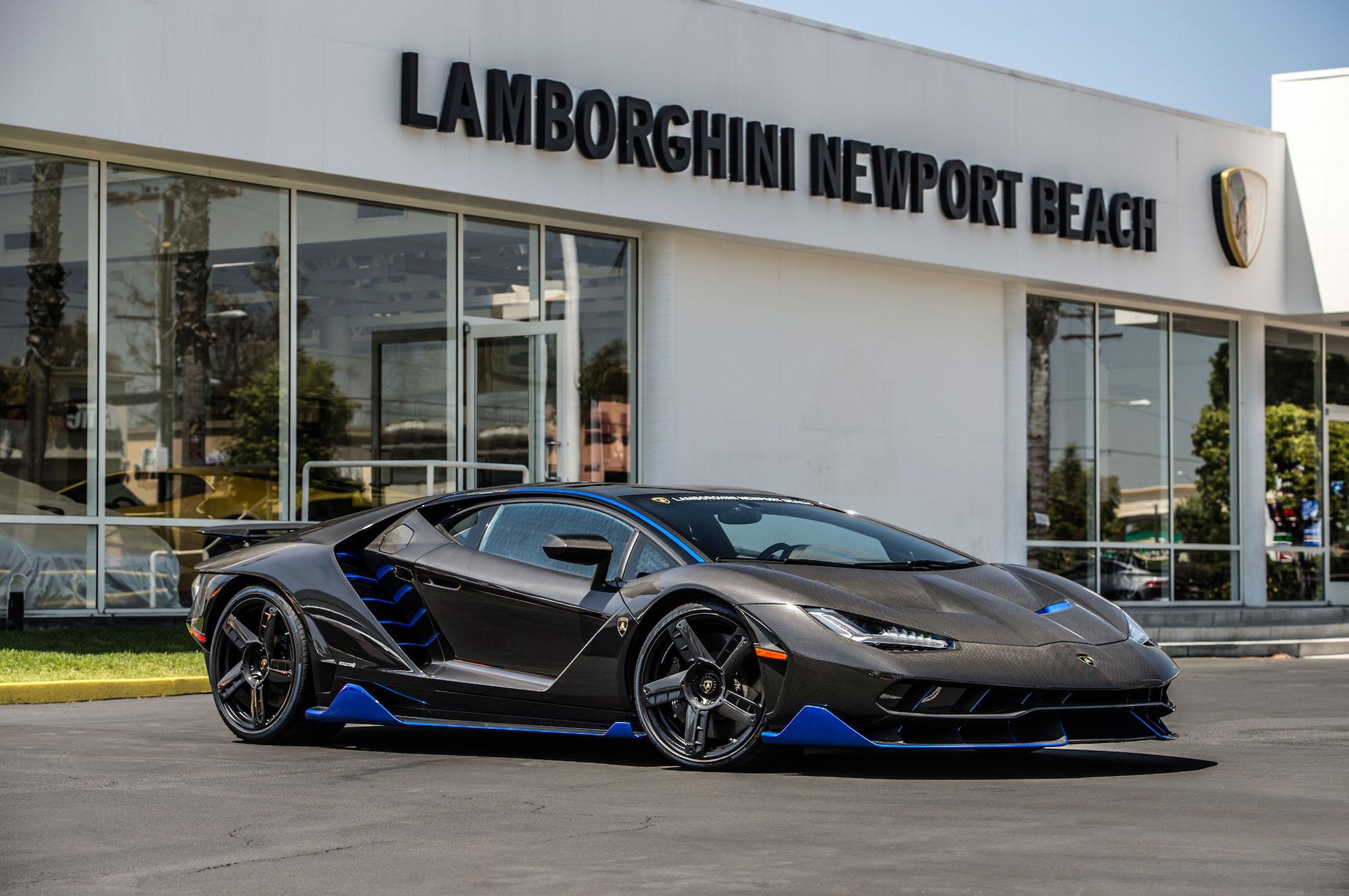 Lamborghini Centenario Blue Front Three Quarters