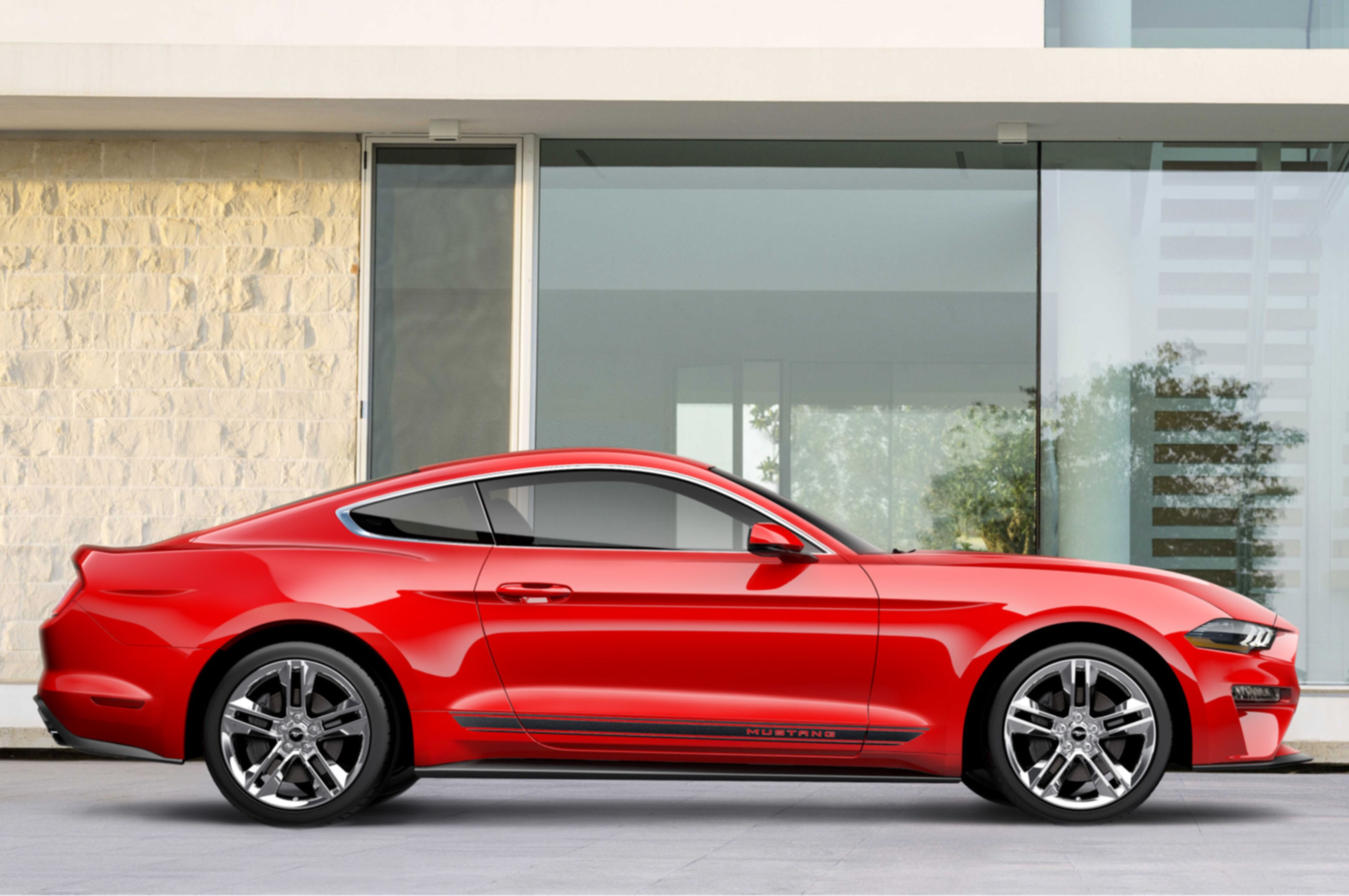 2018 Ford Mustang Pony Package Side