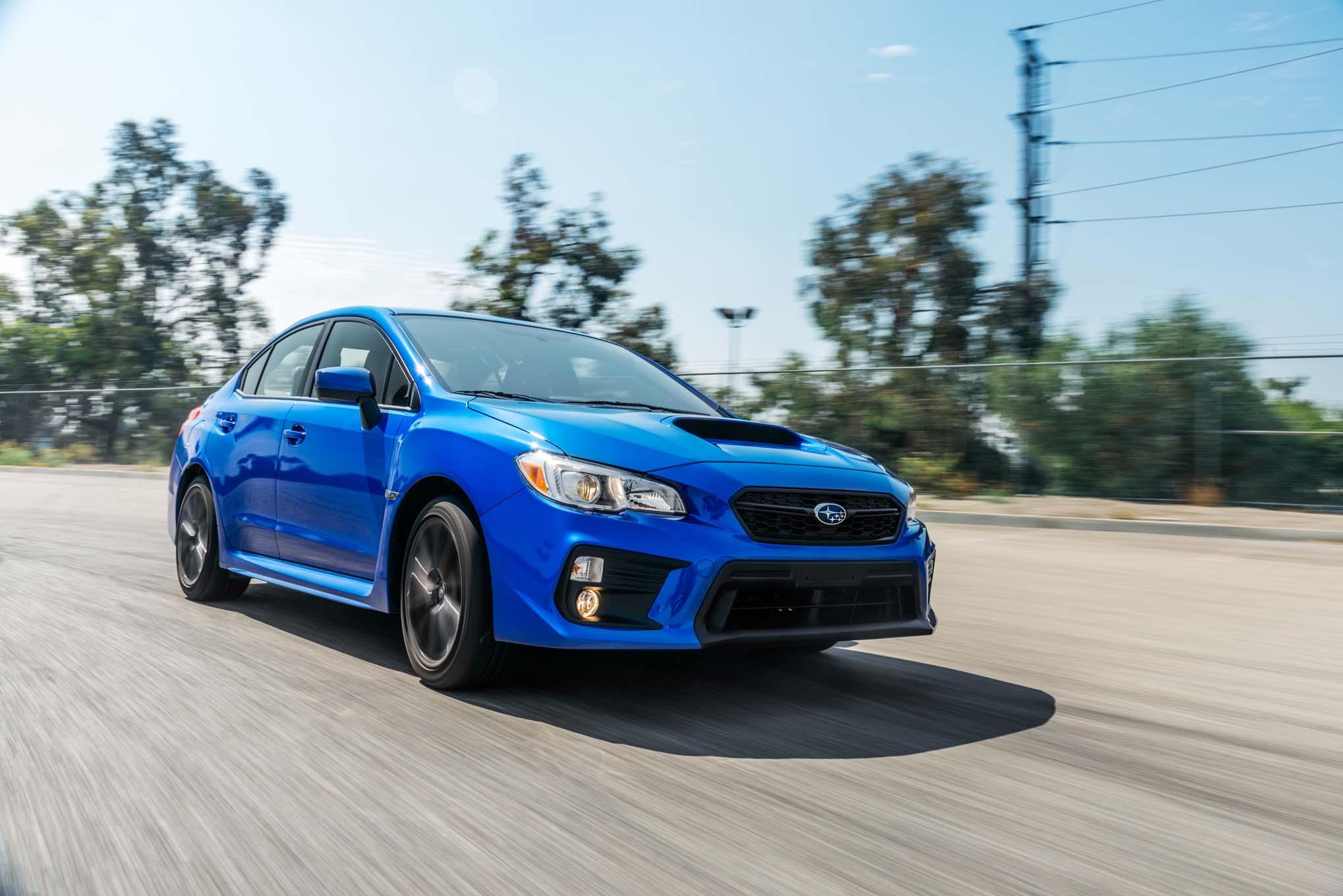 2018 Subaru WRX Front Three Quarter In Motion 02