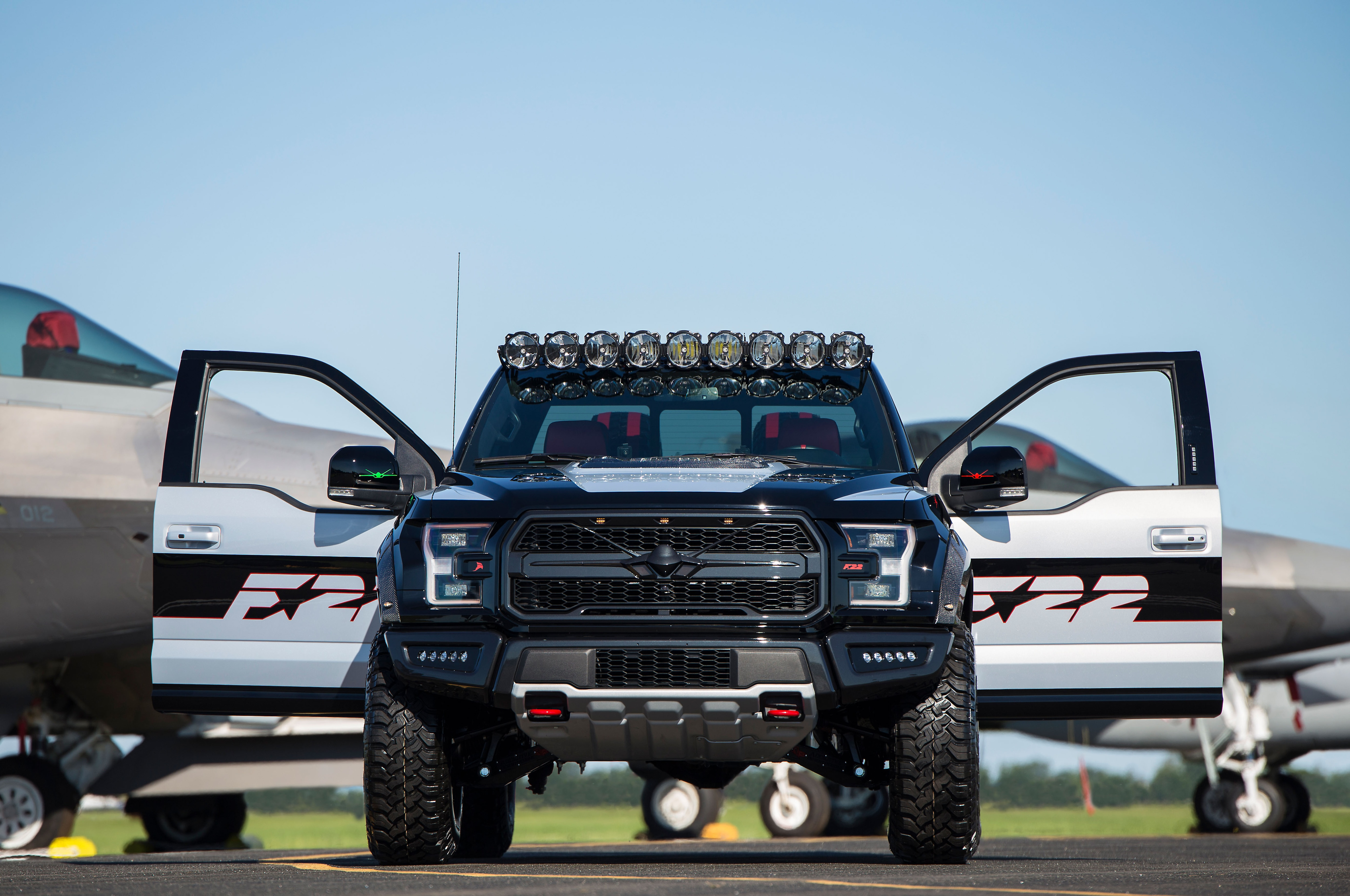 Ford F 22 F 150 Raptor Doors Open Close Up