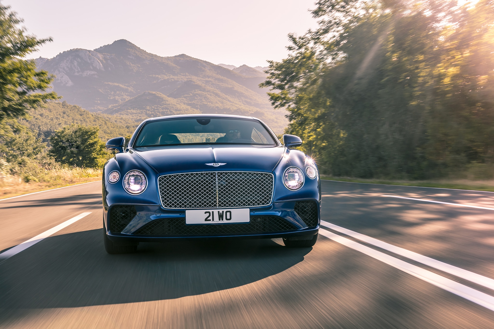 2019 Bentley Continental GT Front View In Motion