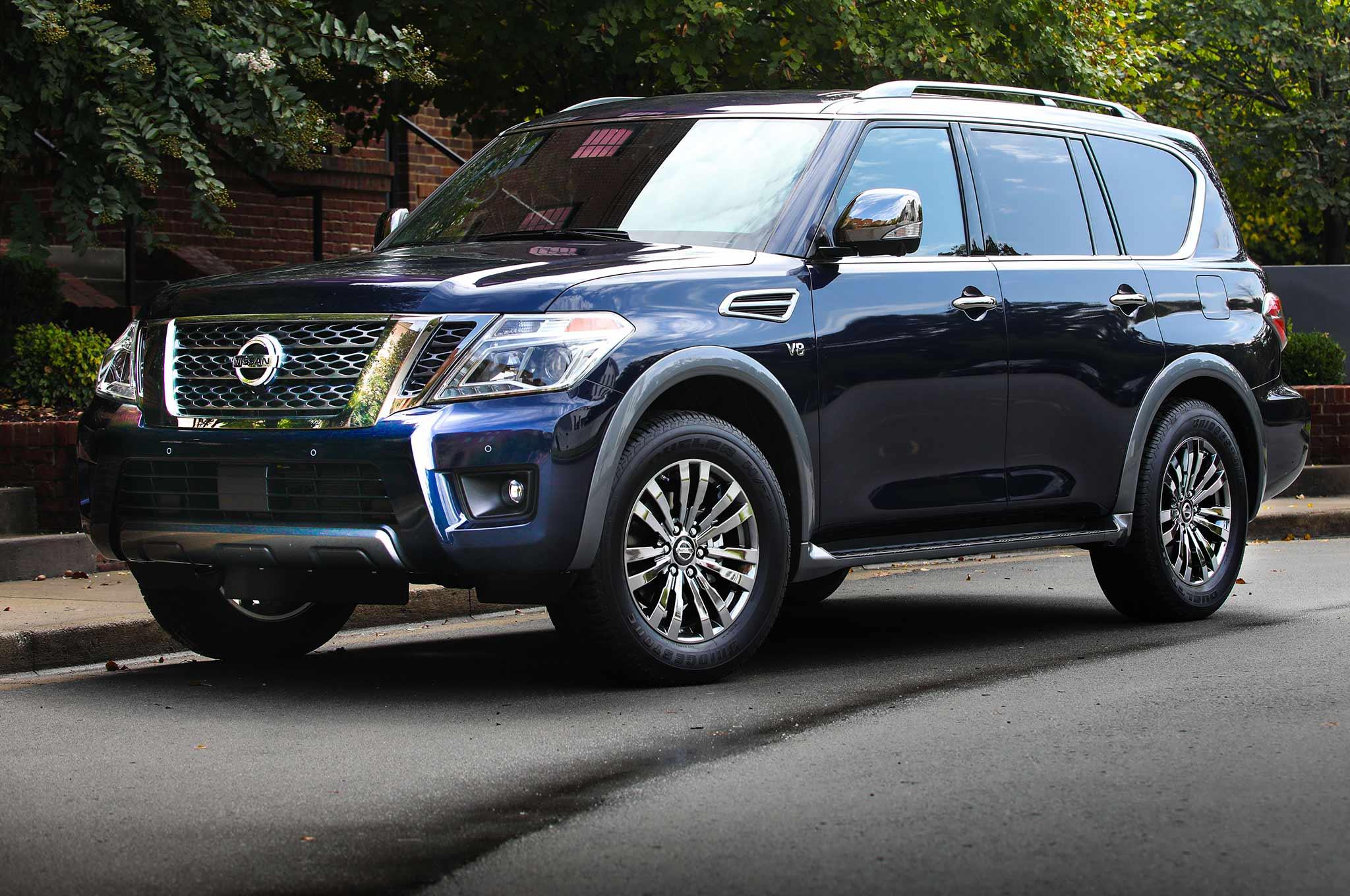 2018 Nissan Armada Platinum Reserve Front Three Quarter
