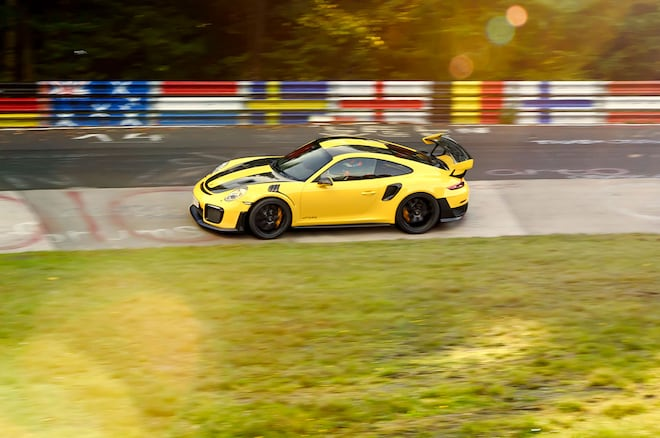 porsche 911 gt2 rs is the quickest production car on the nurburgring at 6 automobile. Black Bedroom Furniture Sets. Home Design Ideas