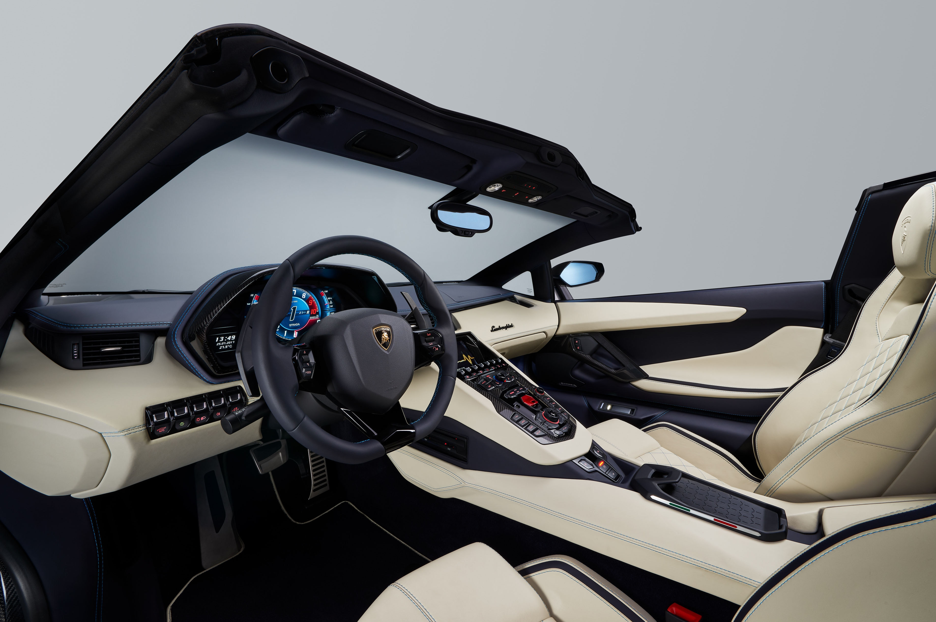 Lamborghini aventador s roadster coming to 2017 frankfurt for Interior lamborghini