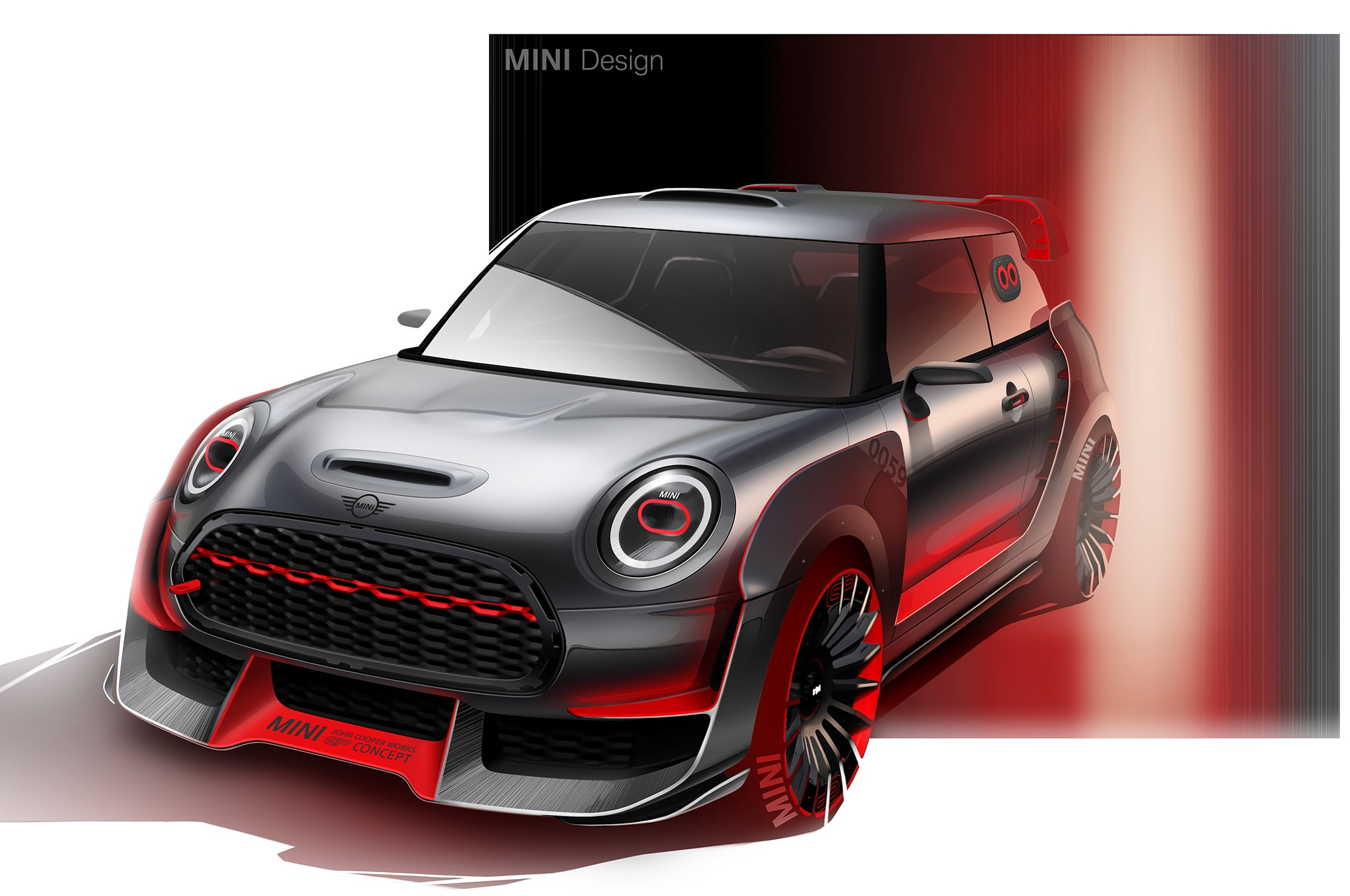 mini john cooper works gp concept to debut at 2017 frankfurt motor show automobile magazine. Black Bedroom Furniture Sets. Home Design Ideas