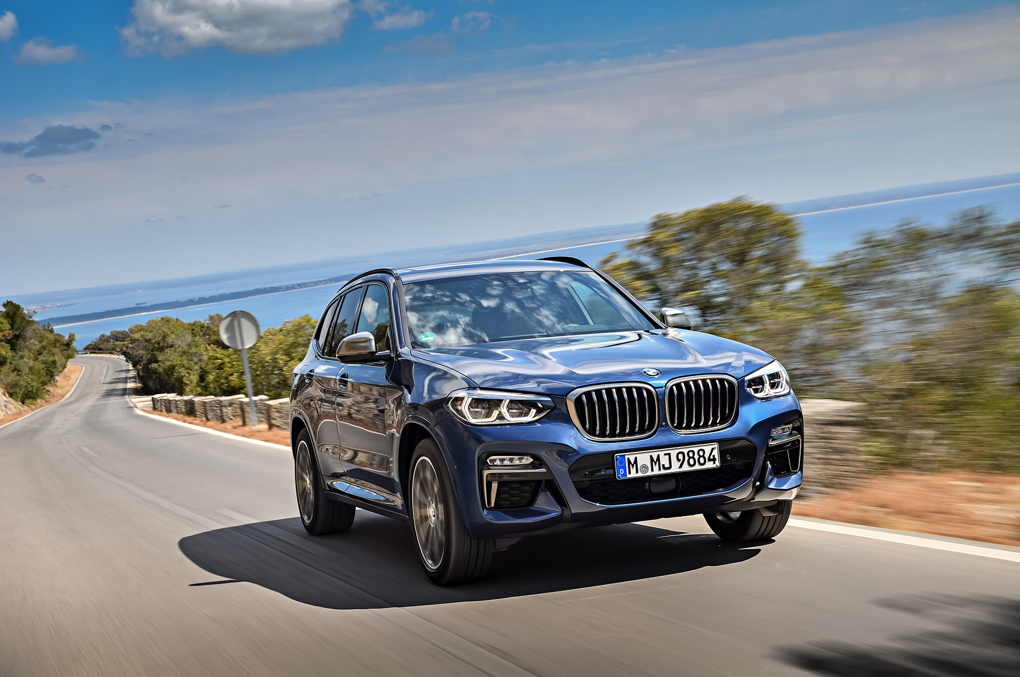 2018 BMW X3 M40i Front Three Quarter In Motion 42