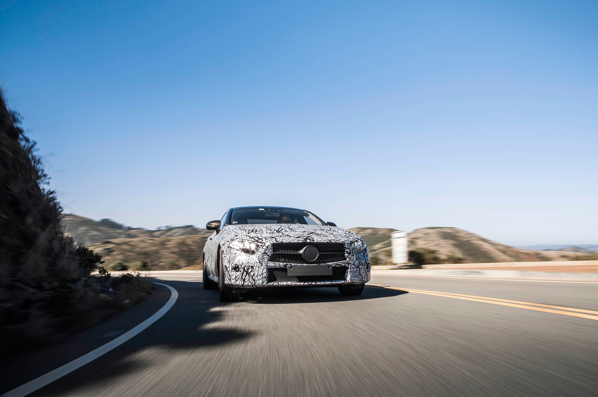 2019 Mercedes Benz CLS Prototype Front In Motion 03