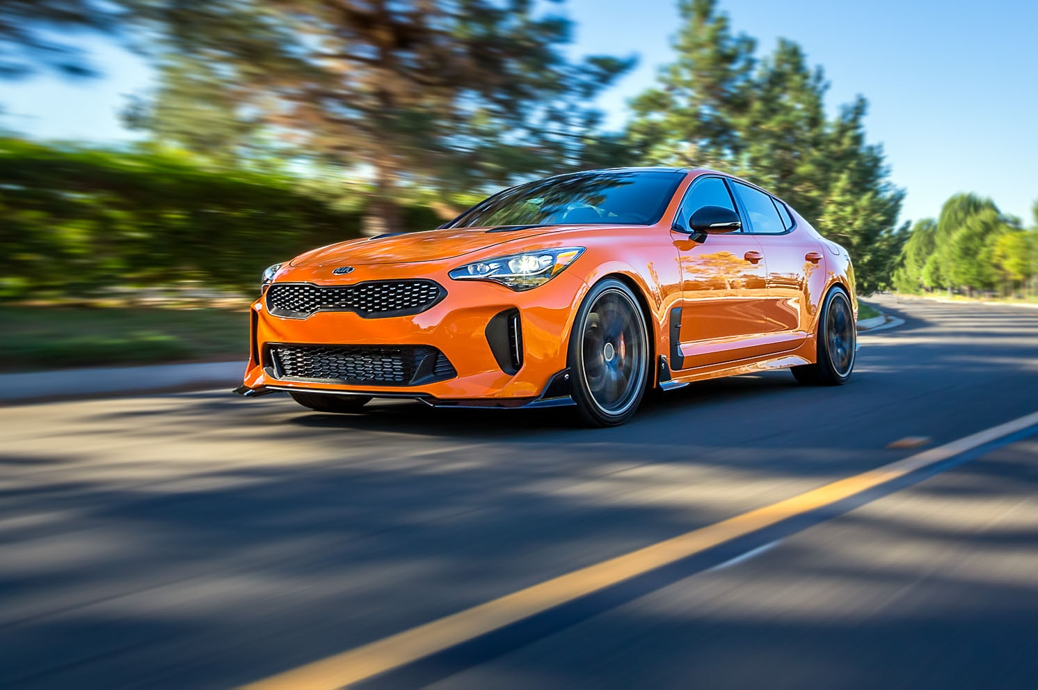 Kia Stinger GT Federation Front Three Quarter Look