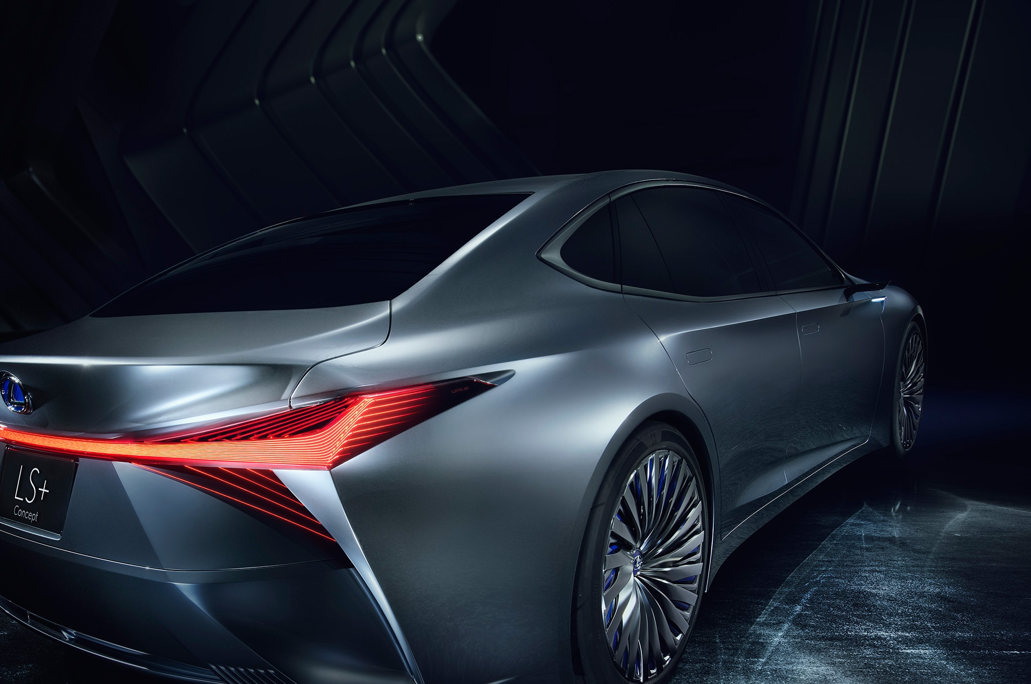 Ls Plus lexus ls concept sports a snowplow like spindle grille in