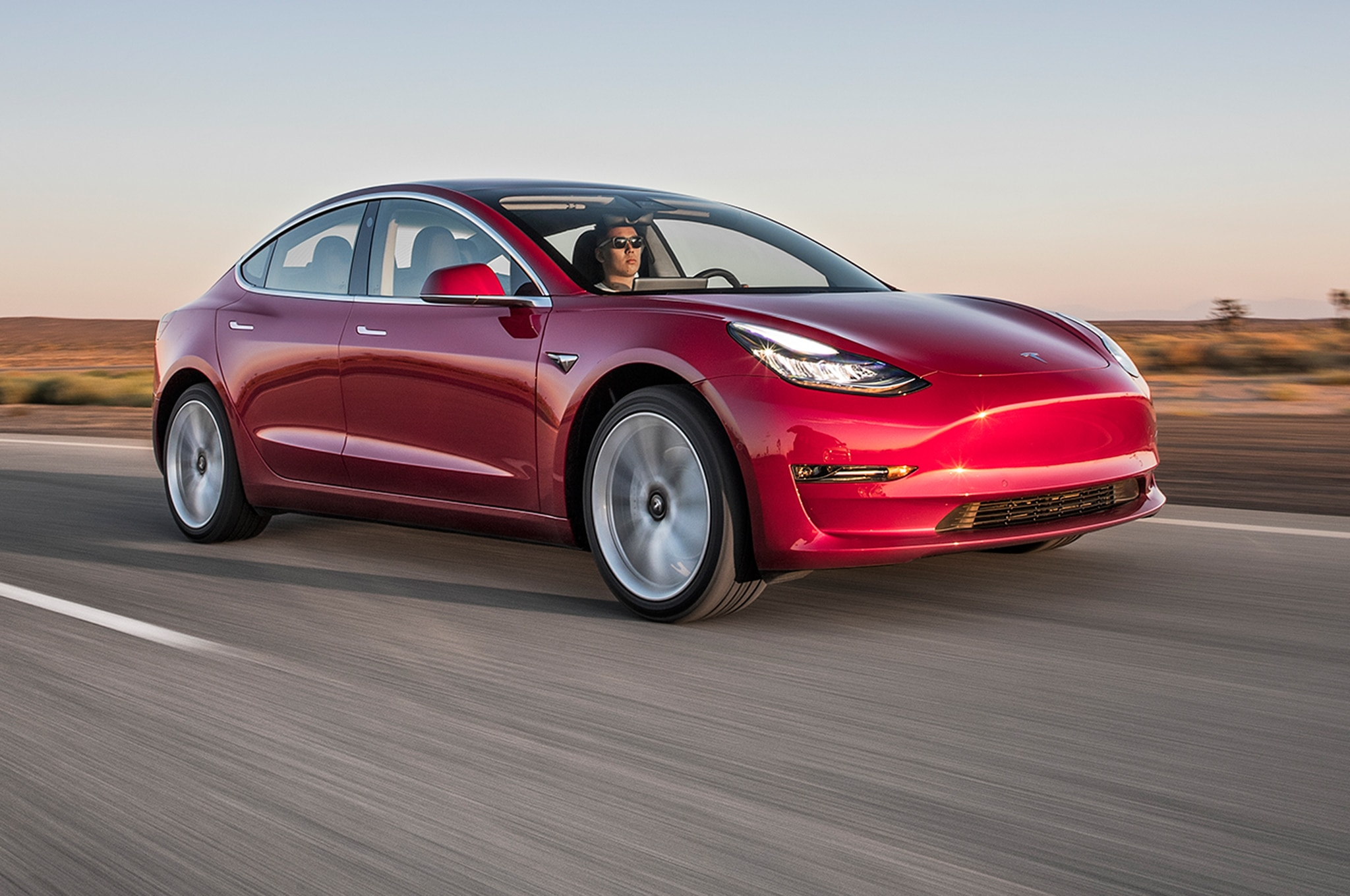 2017 Tesla Model 3 Front Three Quarter In Motion 00
