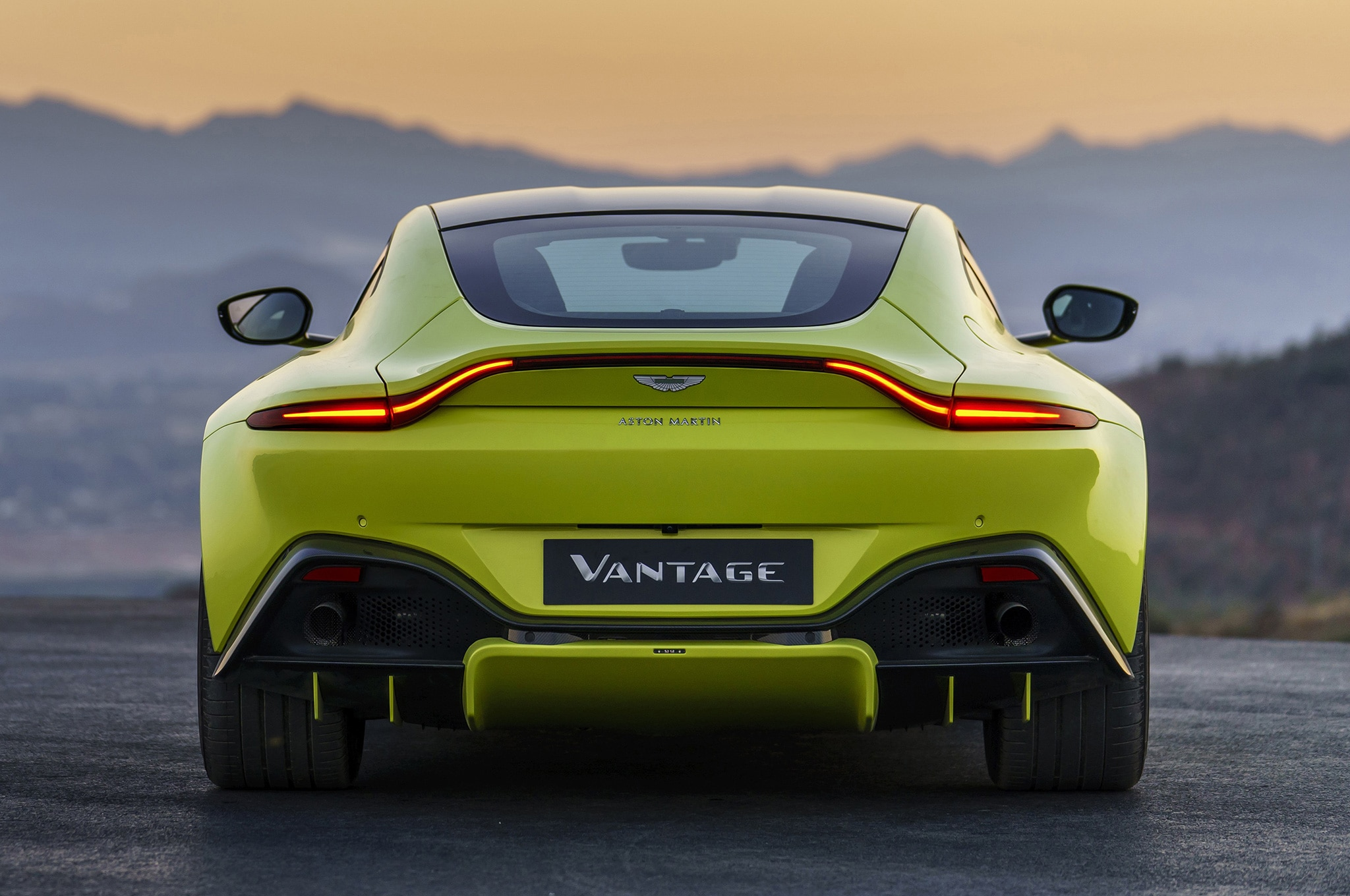 2019 Aston Martin Vantage Rear View Lights On