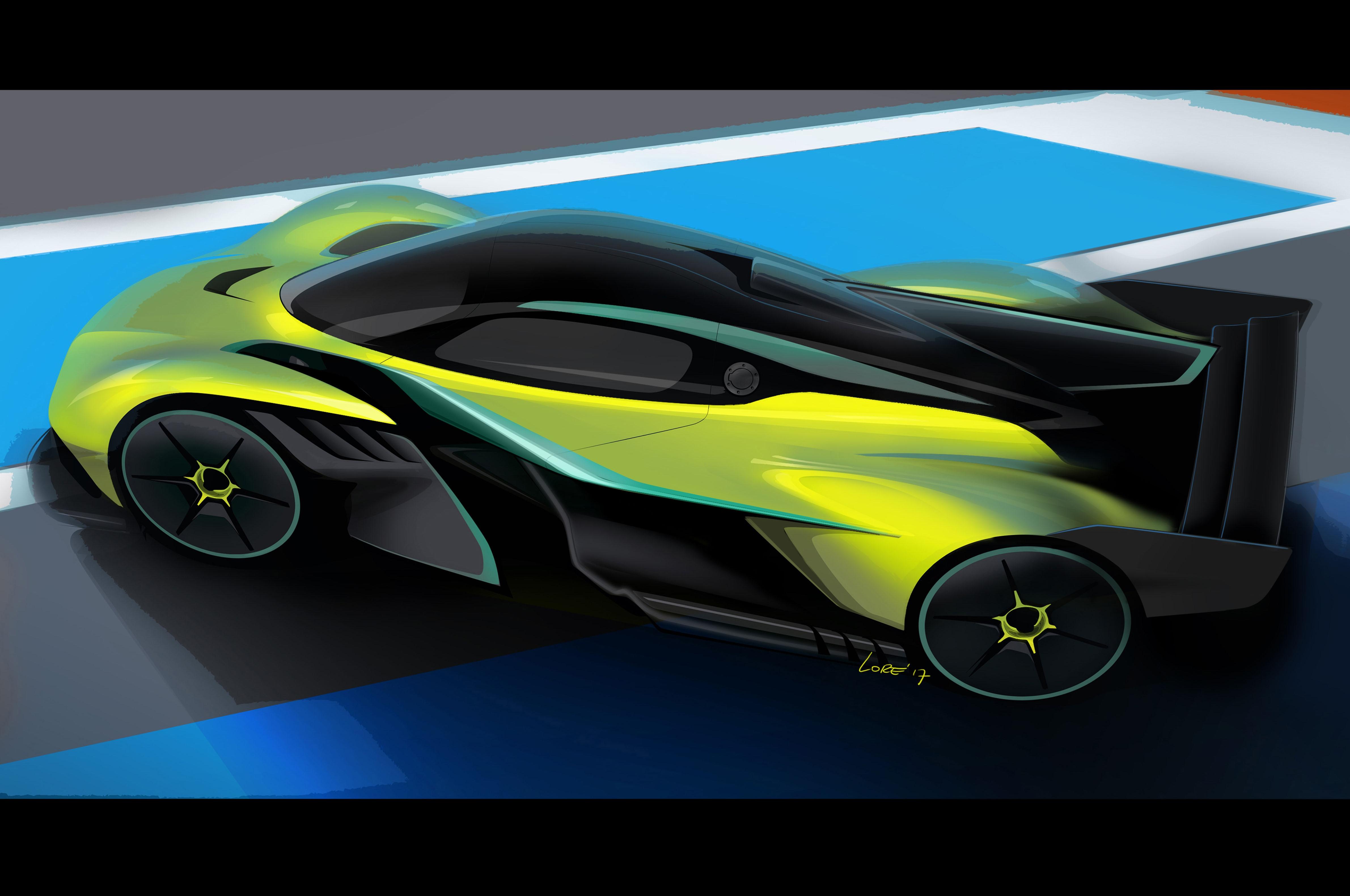 Aston Martin Valkyrie AMR Pro Rear Three Quartersjpg