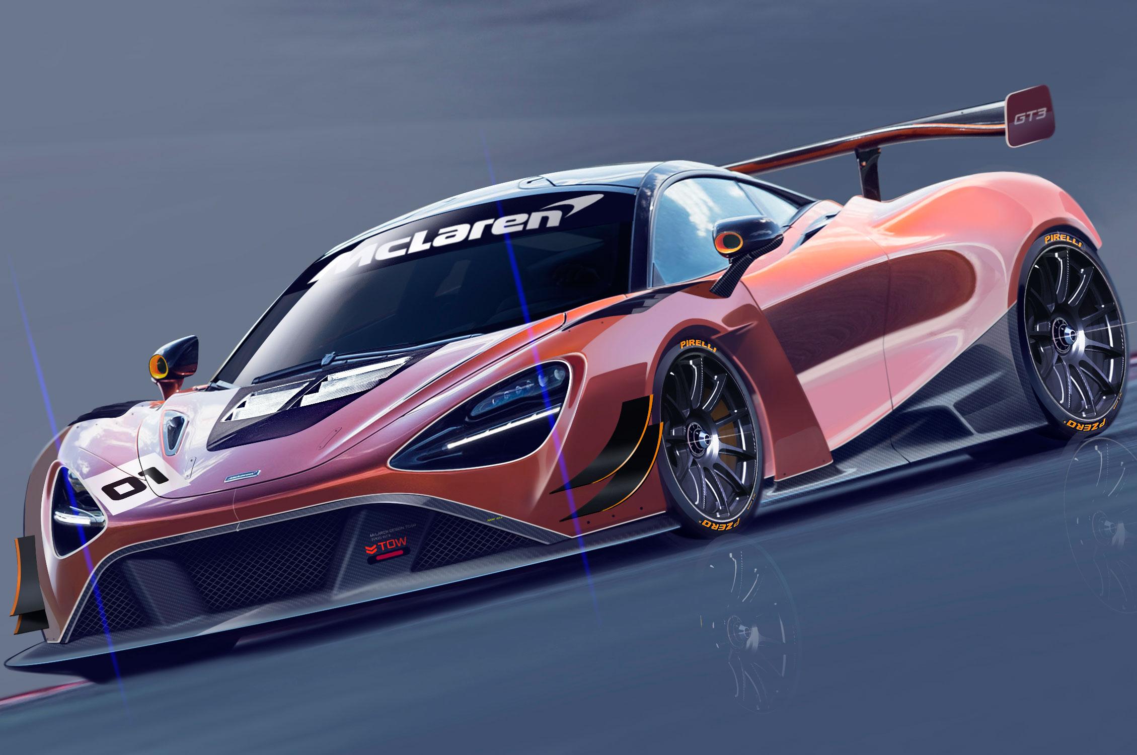 McLaren 720S GT3 Front Sketch