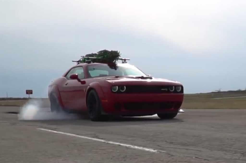 Hennessey Dodge Challenger Hellcat Widebody Christmas Tree