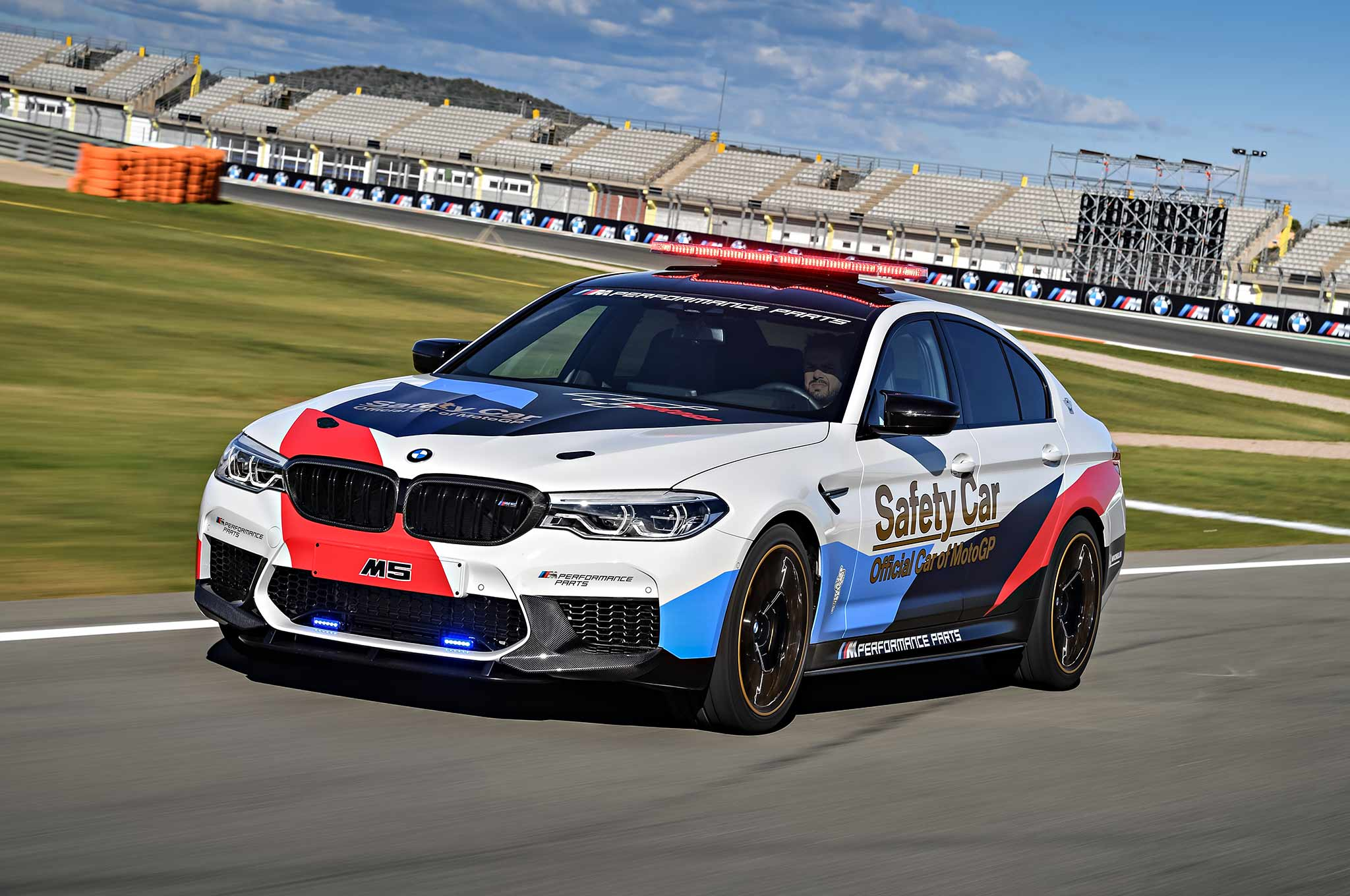 2018 bmw m5 is motogp 39 s new official pace car with 592 hp automobile magazine. Black Bedroom Furniture Sets. Home Design Ideas